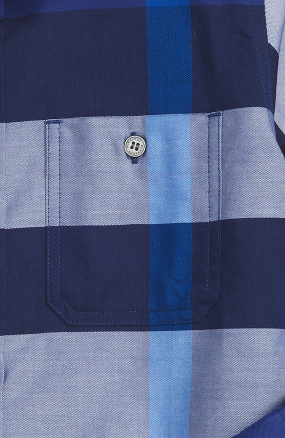 'Mini Camber' Check Long Sleeve Shirt,                             Alternate thumbnail 8, color,