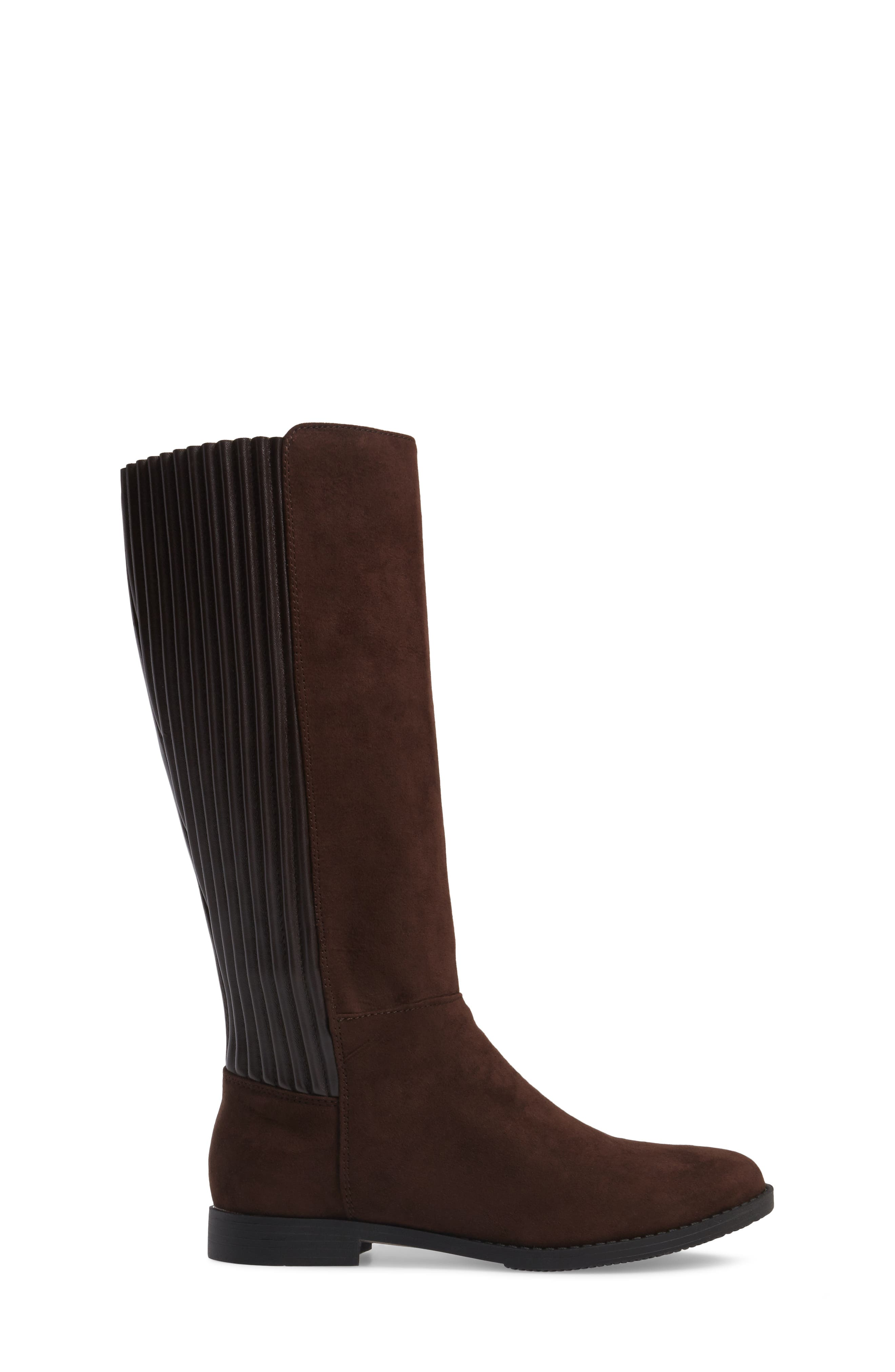 Kennedy Pleated Riding Boot,                             Alternate thumbnail 6, color,