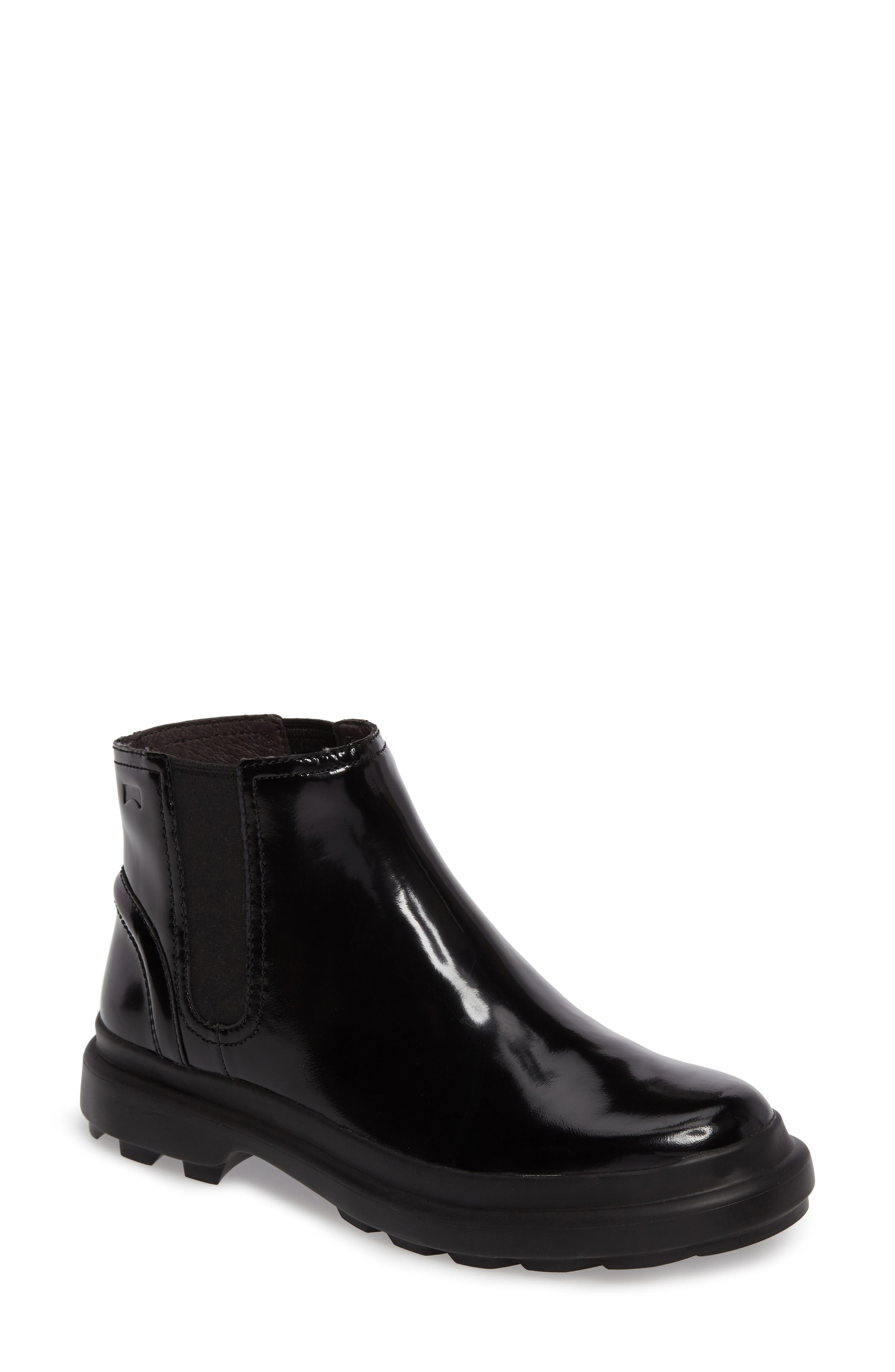 Turtle Lugged Chelsea Boot,                             Main thumbnail 1, color,                             001