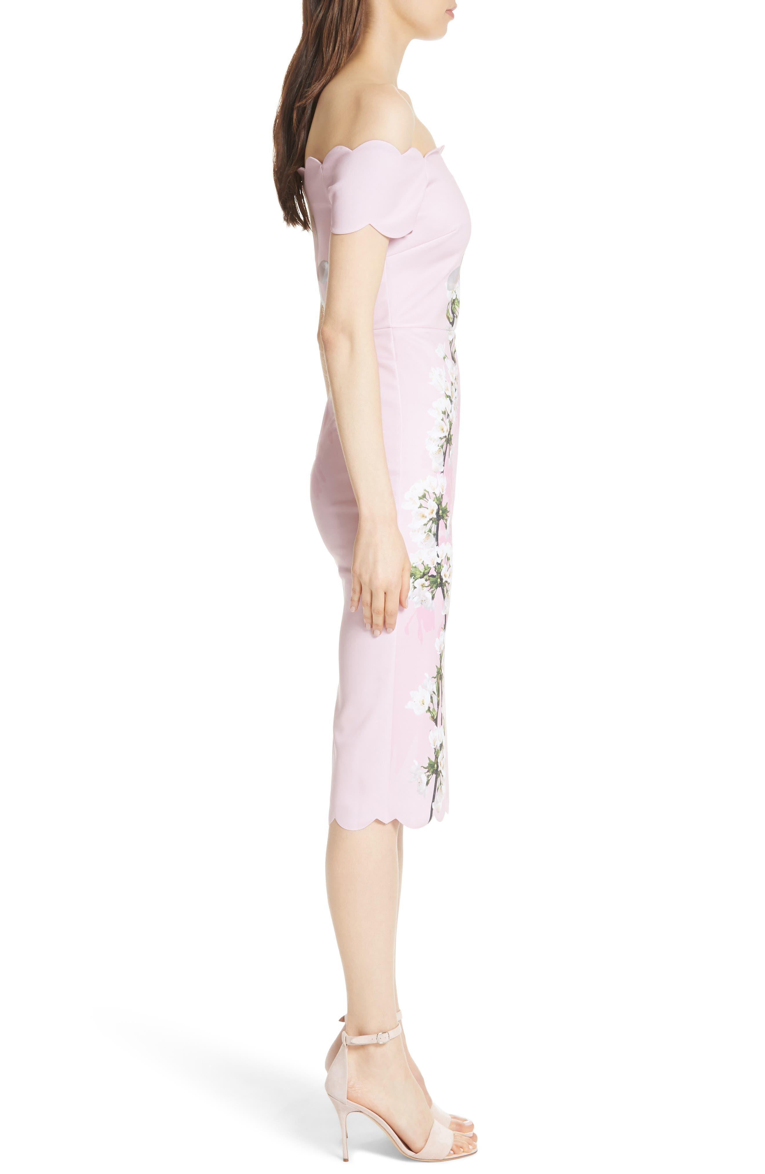 Olyva Harmony Body-Con Dress,                             Alternate thumbnail 3, color,                             PALE PINK