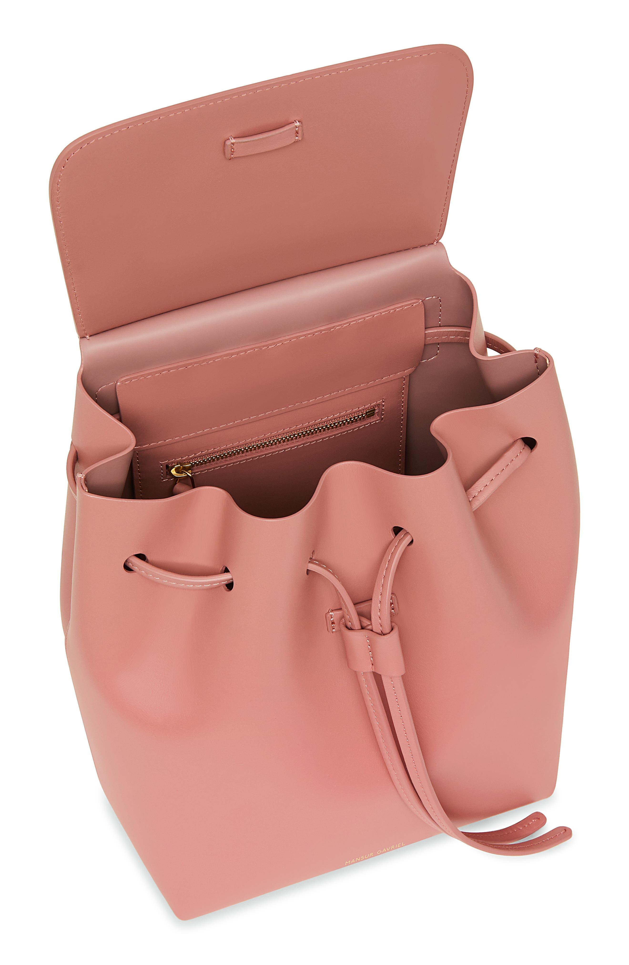 Mini Leather Backpack,                             Alternate thumbnail 2, color,                             BLUSH