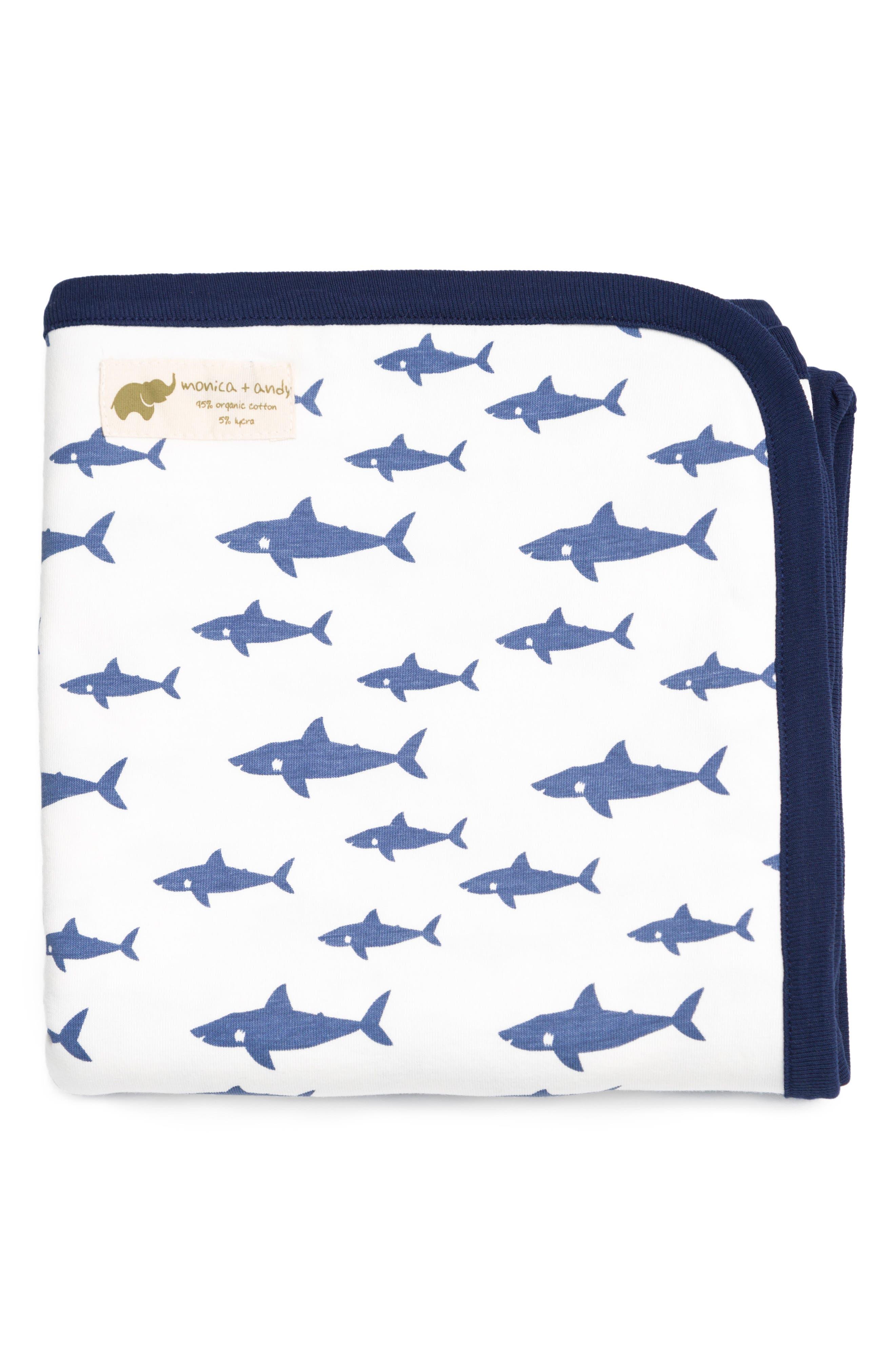 Shark Attack Coming Home Blanket,                             Main thumbnail 1, color,                             SHARK ATTACK