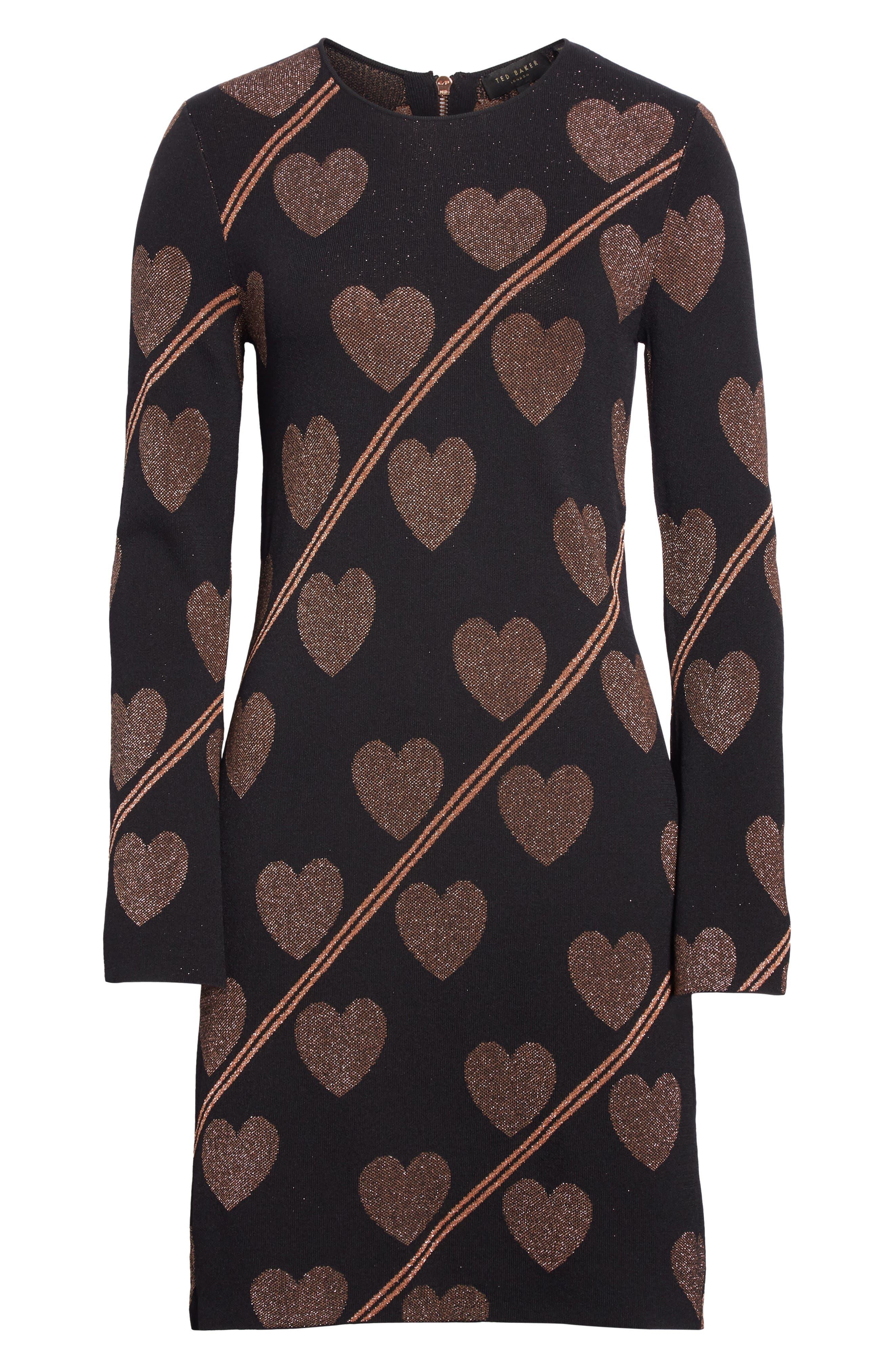 Uzeniaa Joyous Sweater Dress,                             Alternate thumbnail 6, color,                             BLACK