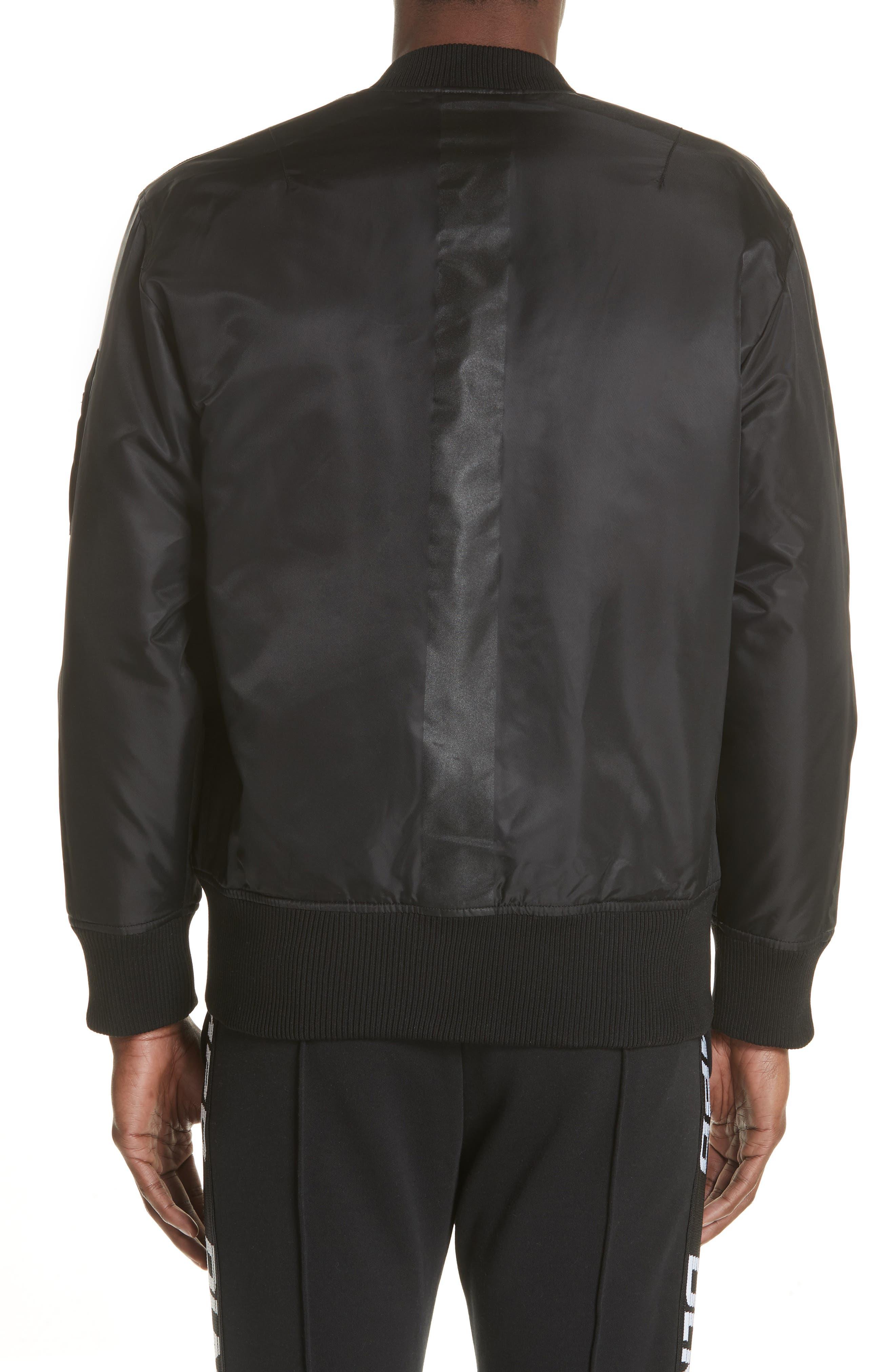 Van Ness Bomber Jacket,                             Alternate thumbnail 2, color,                             BLACK