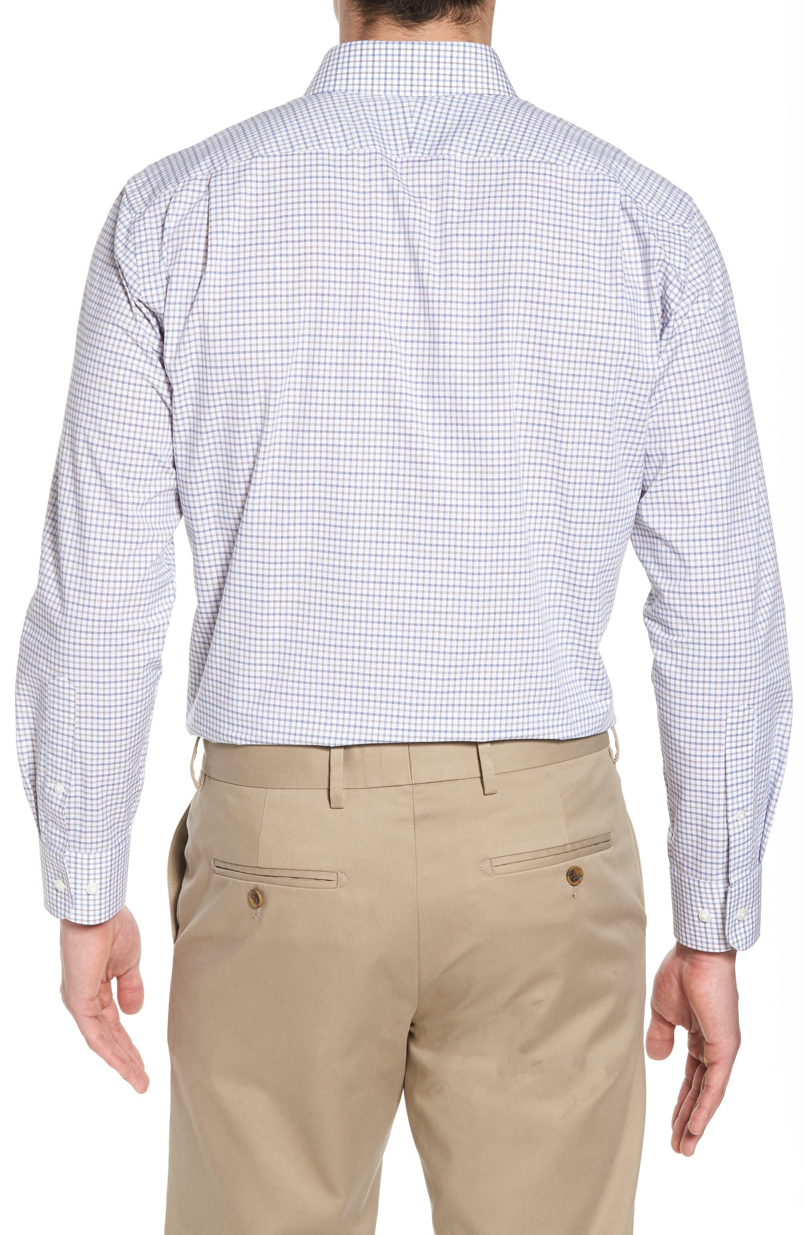 Trim Fit Check Dress Shirt,                             Alternate thumbnail 3, color,                             050