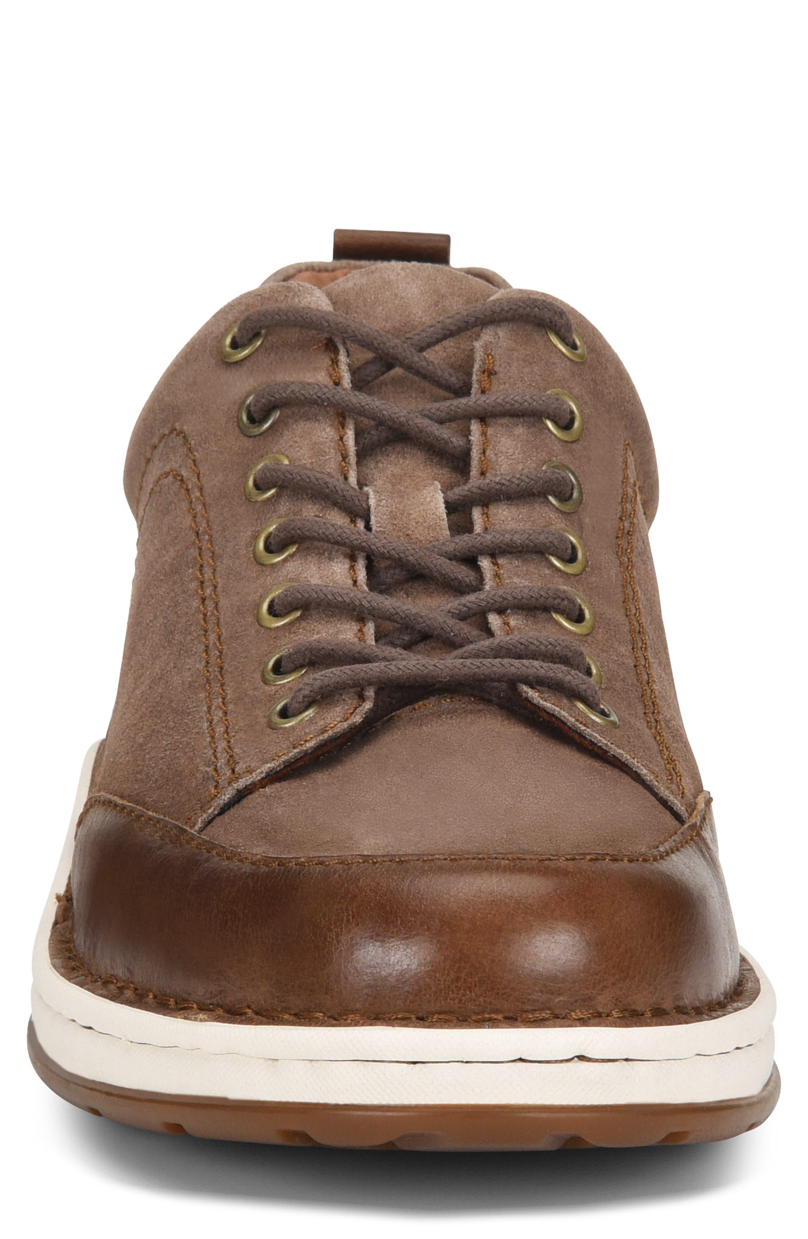 Kruger Moc Toe Sneaker,                             Alternate thumbnail 4, color,                             TAUPE LEATHER