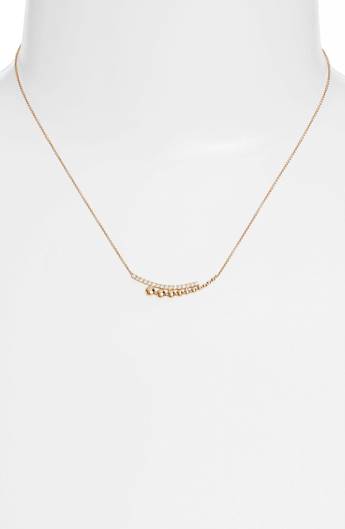 Poppy Rae Diamond Pendant Necklace,                             Alternate thumbnail 2, color,