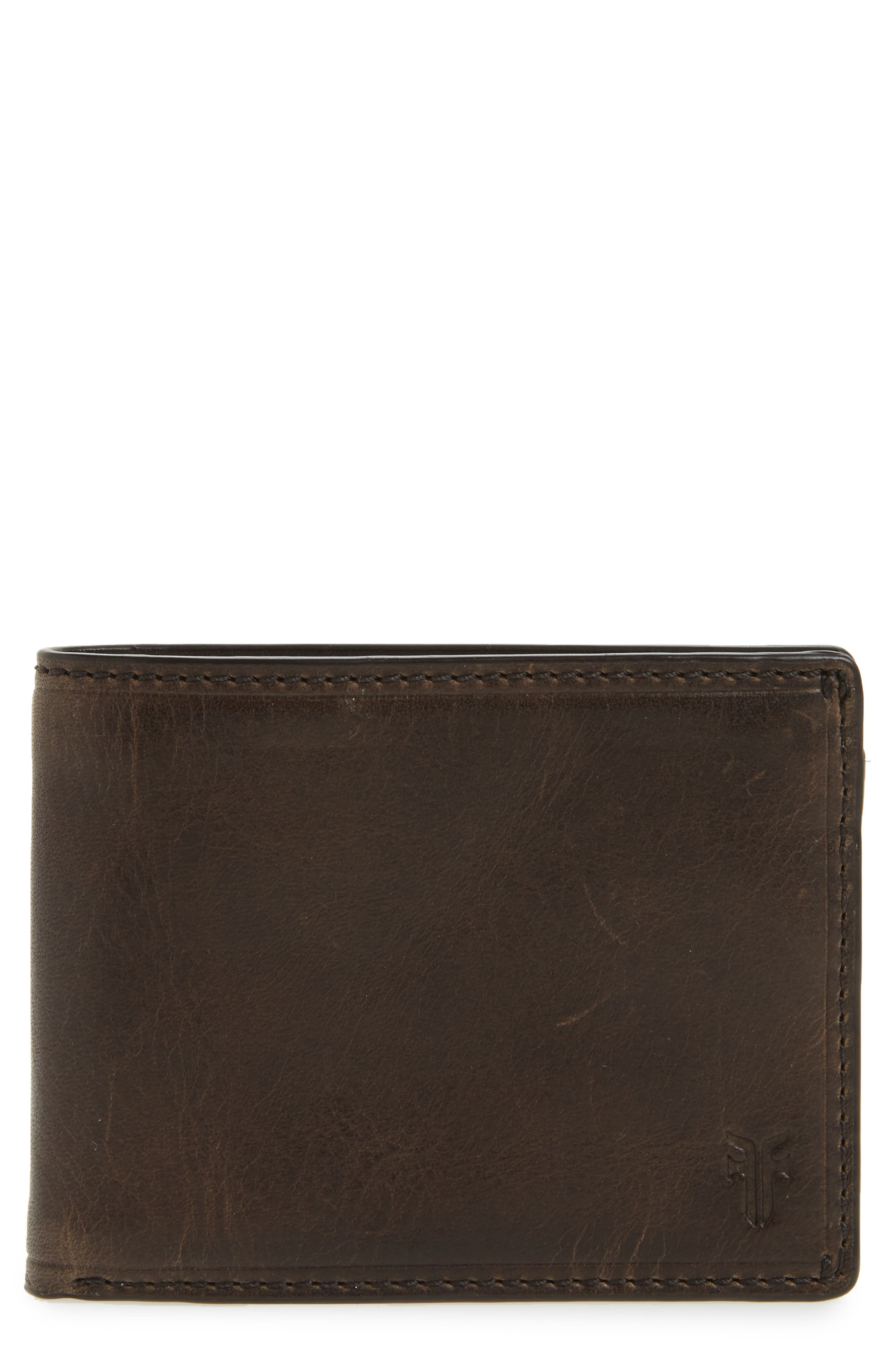 Logan Leather Wallet,                         Main,                         color, SLATE