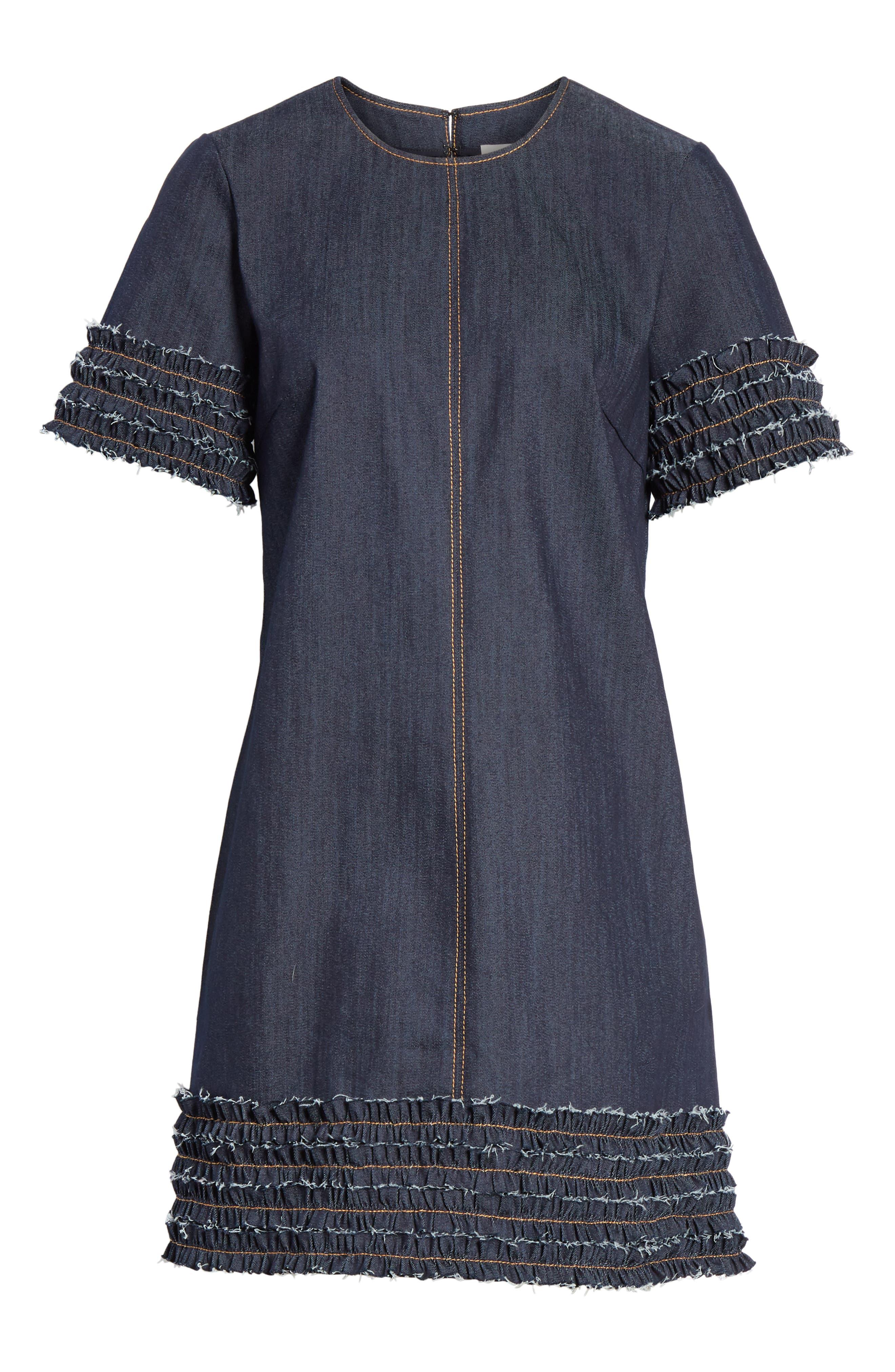 Ashton Dress,                             Alternate thumbnail 6, color,                             INDIGO