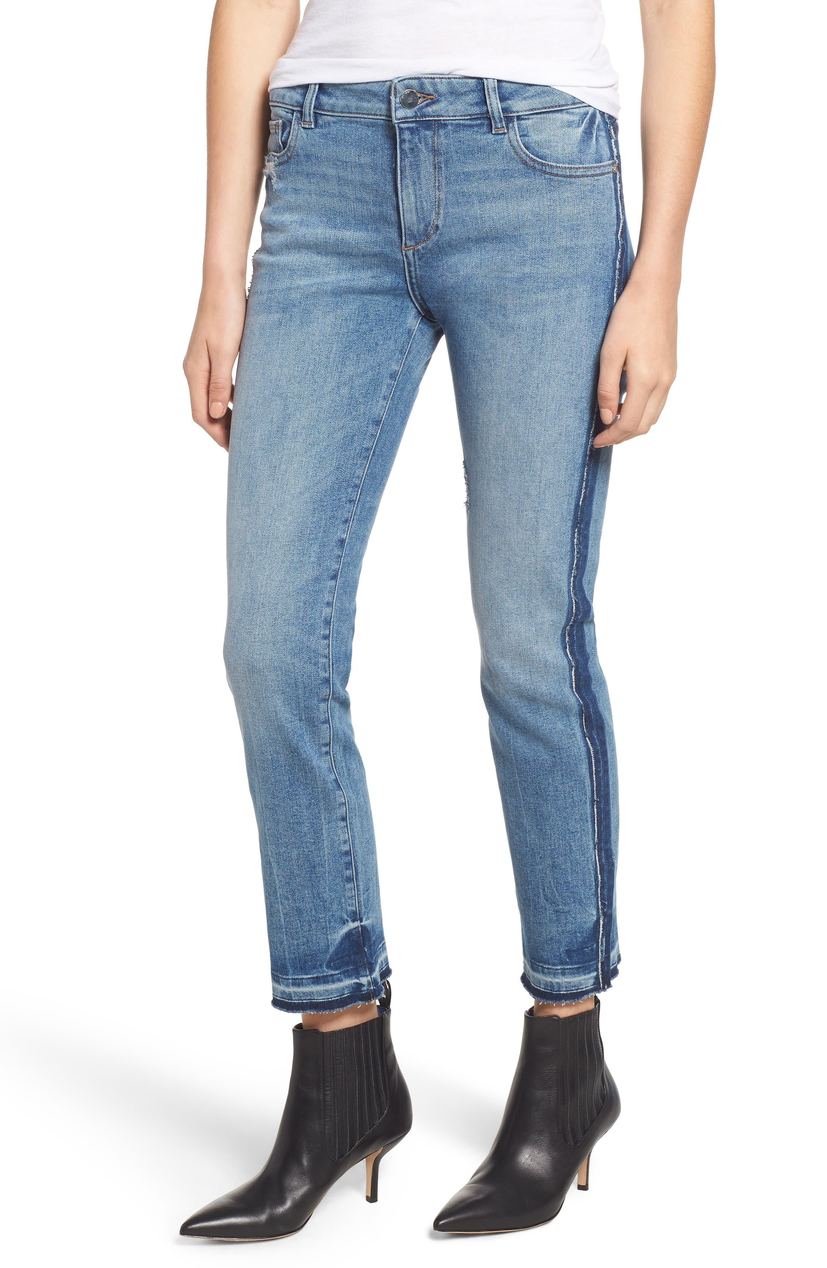 Mara Instasculpt Ankle Straight Leg Jeans,                         Main,                         color, 425