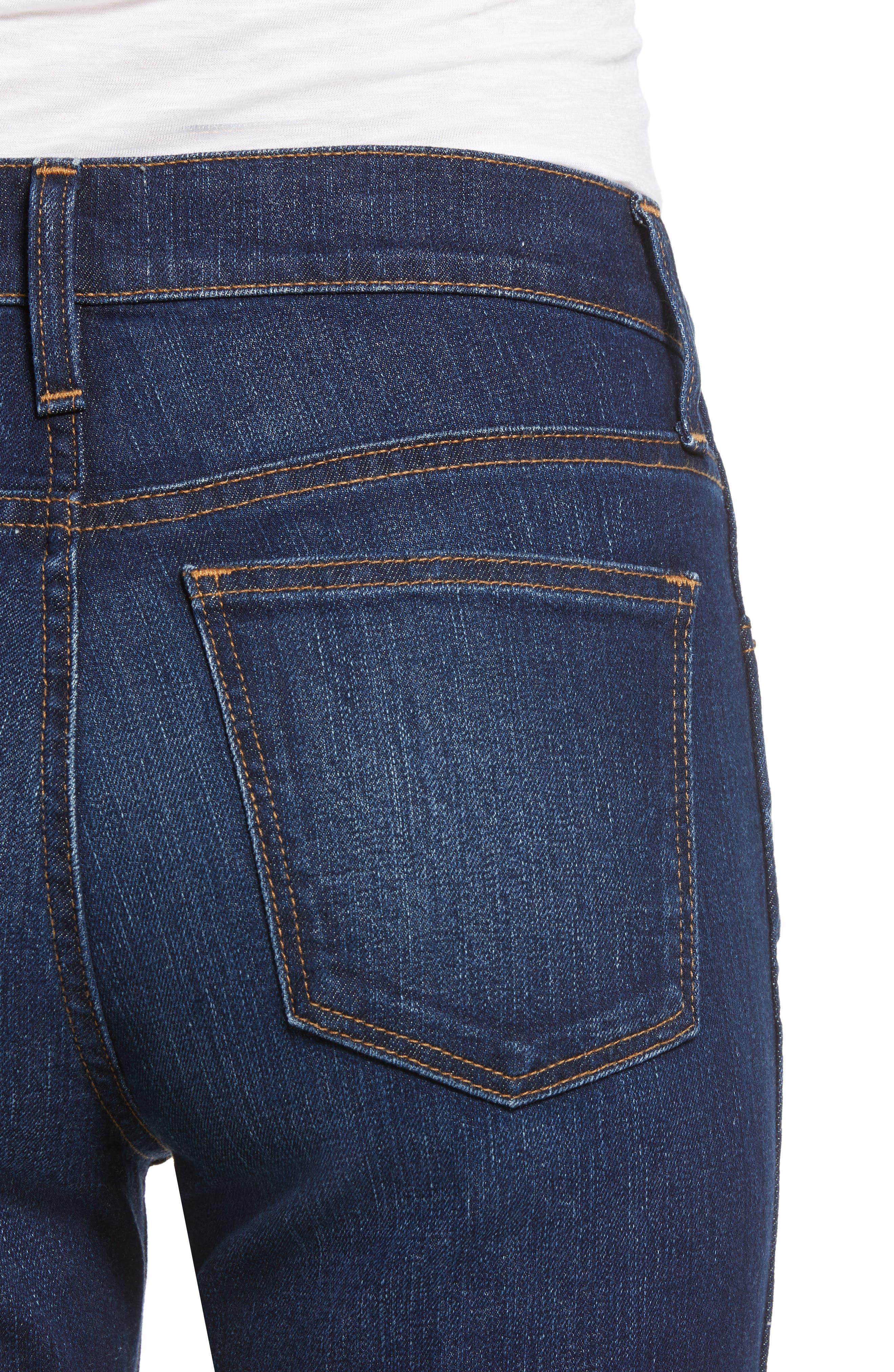 Slim Straight Jeans,                             Alternate thumbnail 4, color,                             420