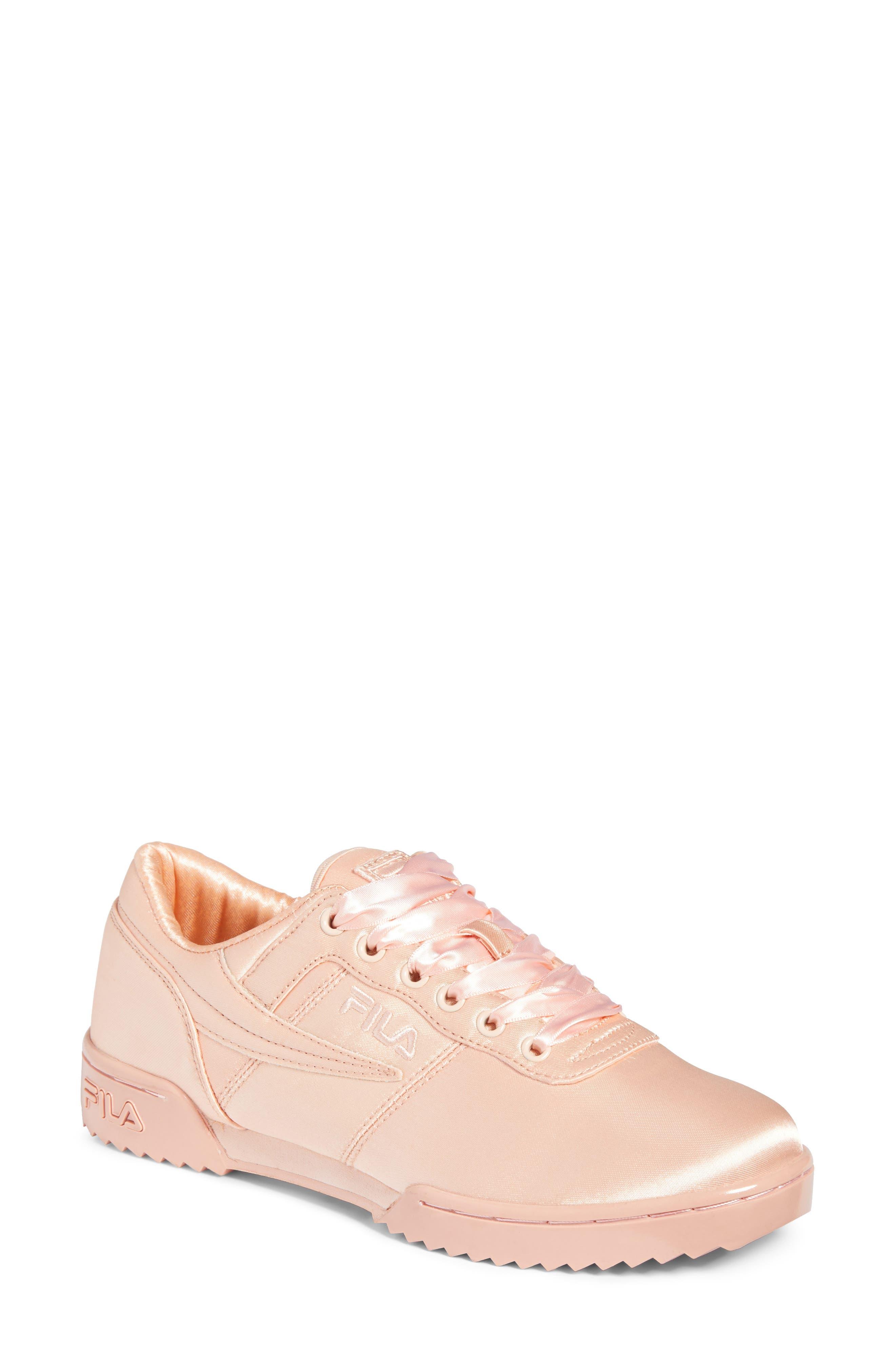 Original Fitness Ripple Satin Sneaker,                         Main,                         color, PINK