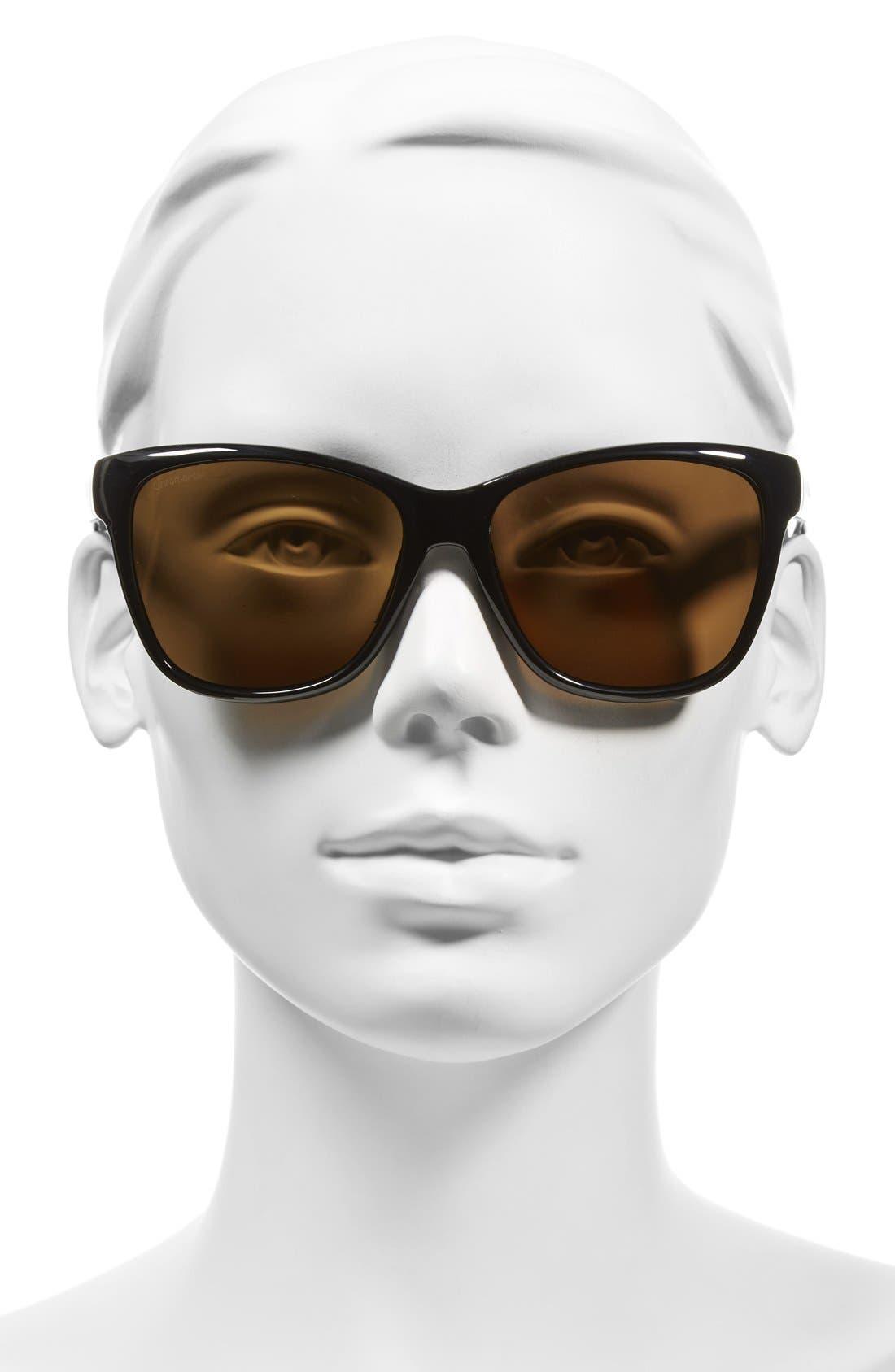 SMITH,                             'Ramona' 56mm ChromaPop Polarized Sunglasses,                             Alternate thumbnail 2, color,                             001