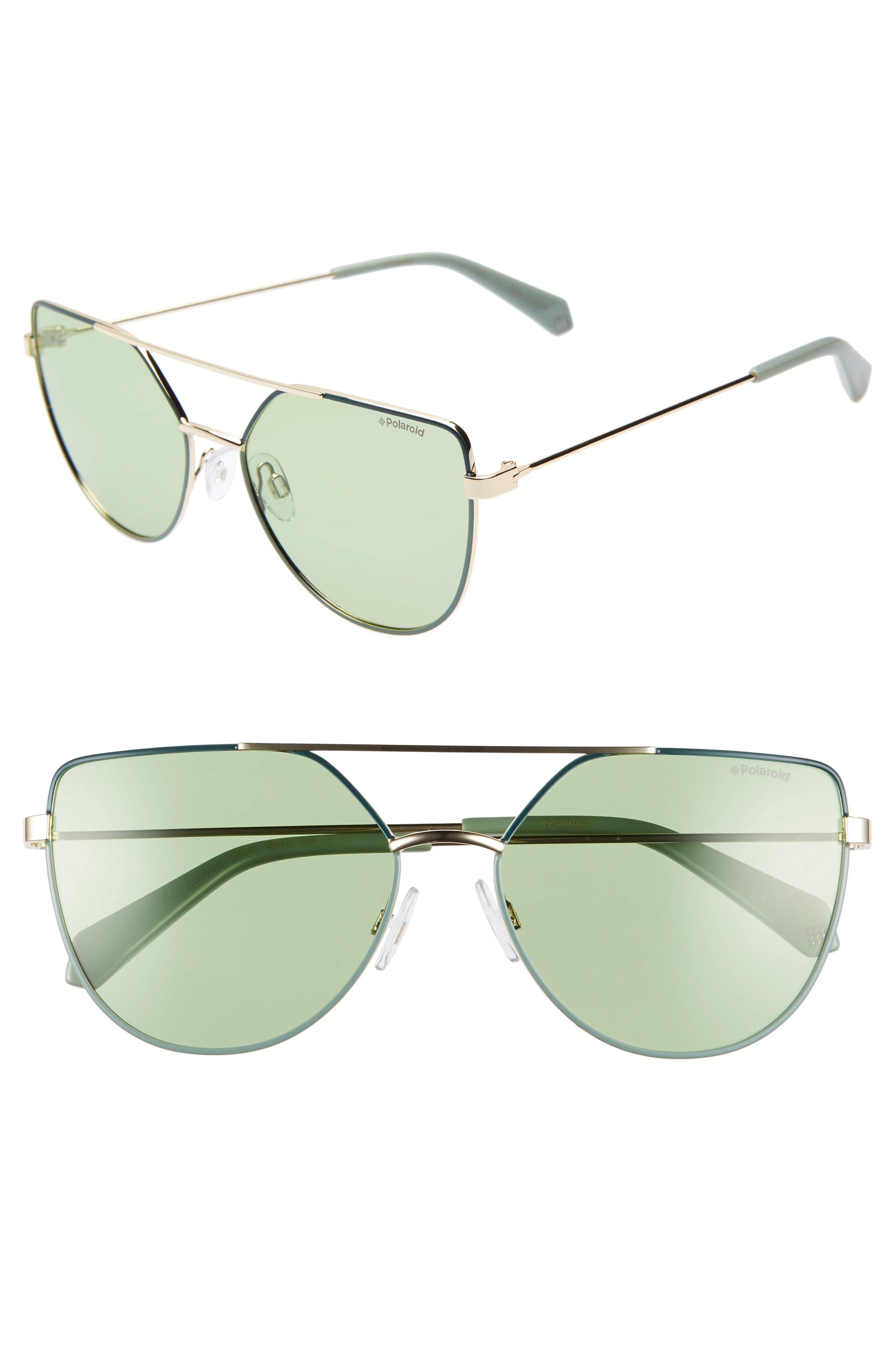 POLAROID 58Mm Polarized Sunglasses - Green/ Gold