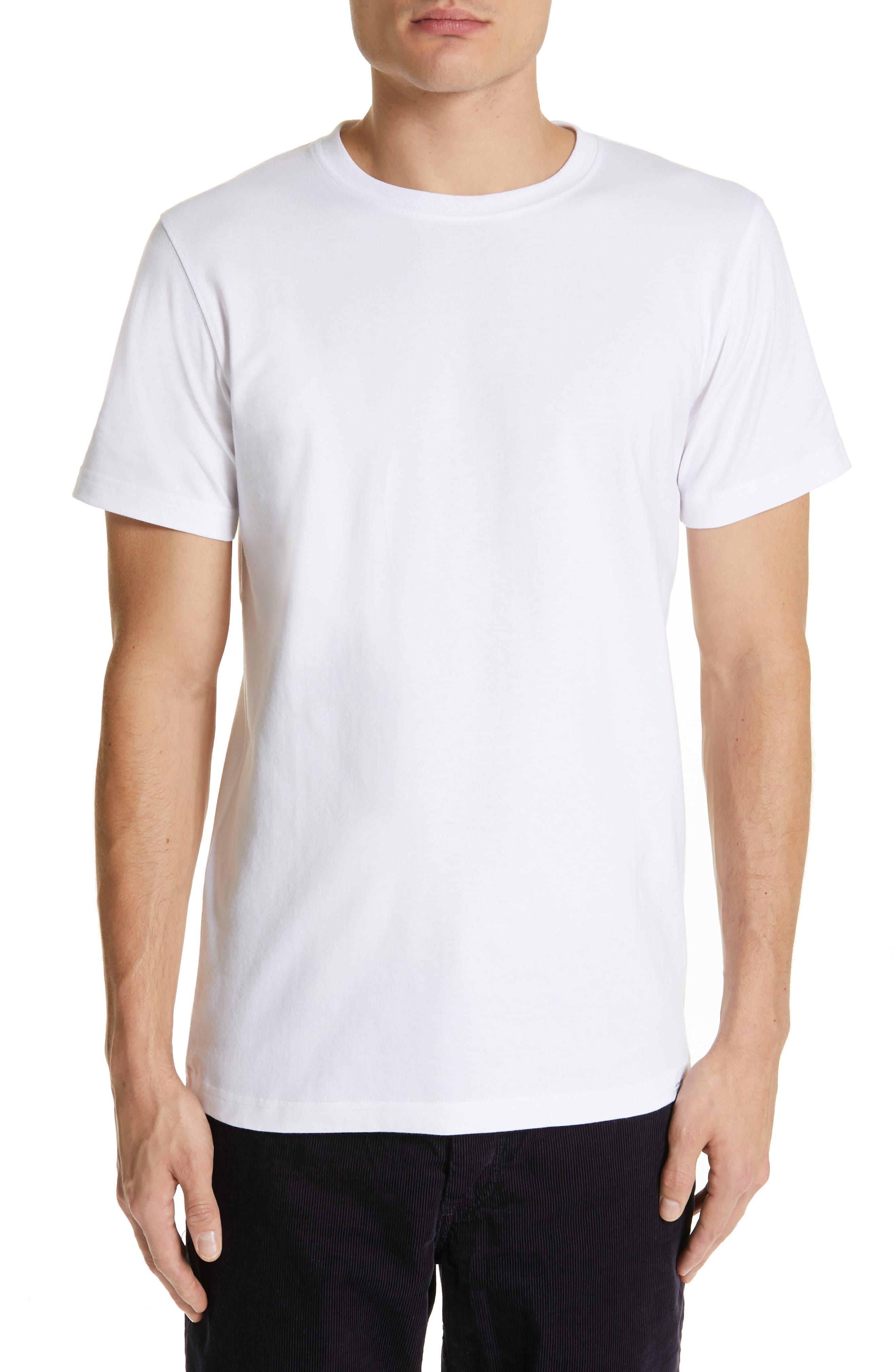 Niels Crewneck T-Shirt,                         Main,                         color, WHITE