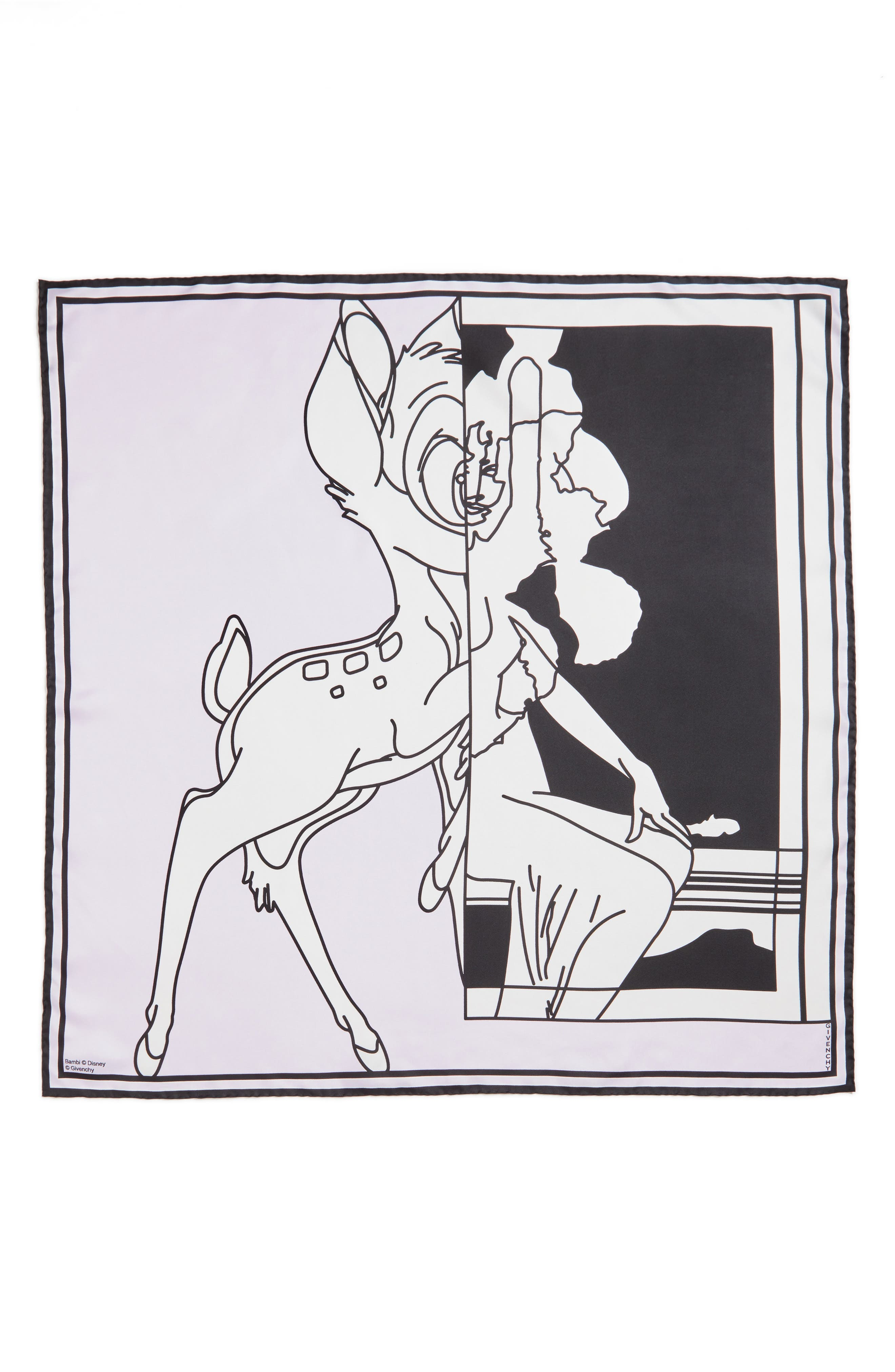 Bambi Print Square Scarf,                             Main thumbnail 3, color,