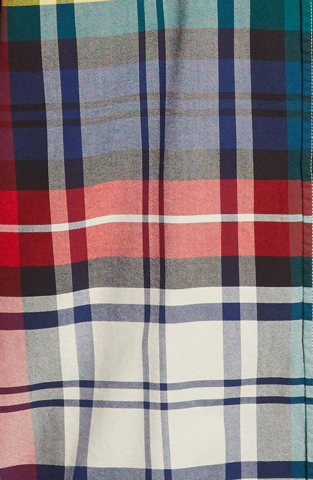 TJM Plaid Crest Sport Shirt,                             Alternate thumbnail 6, color,                             CHECK DARK SAPPHIRE / MULTI