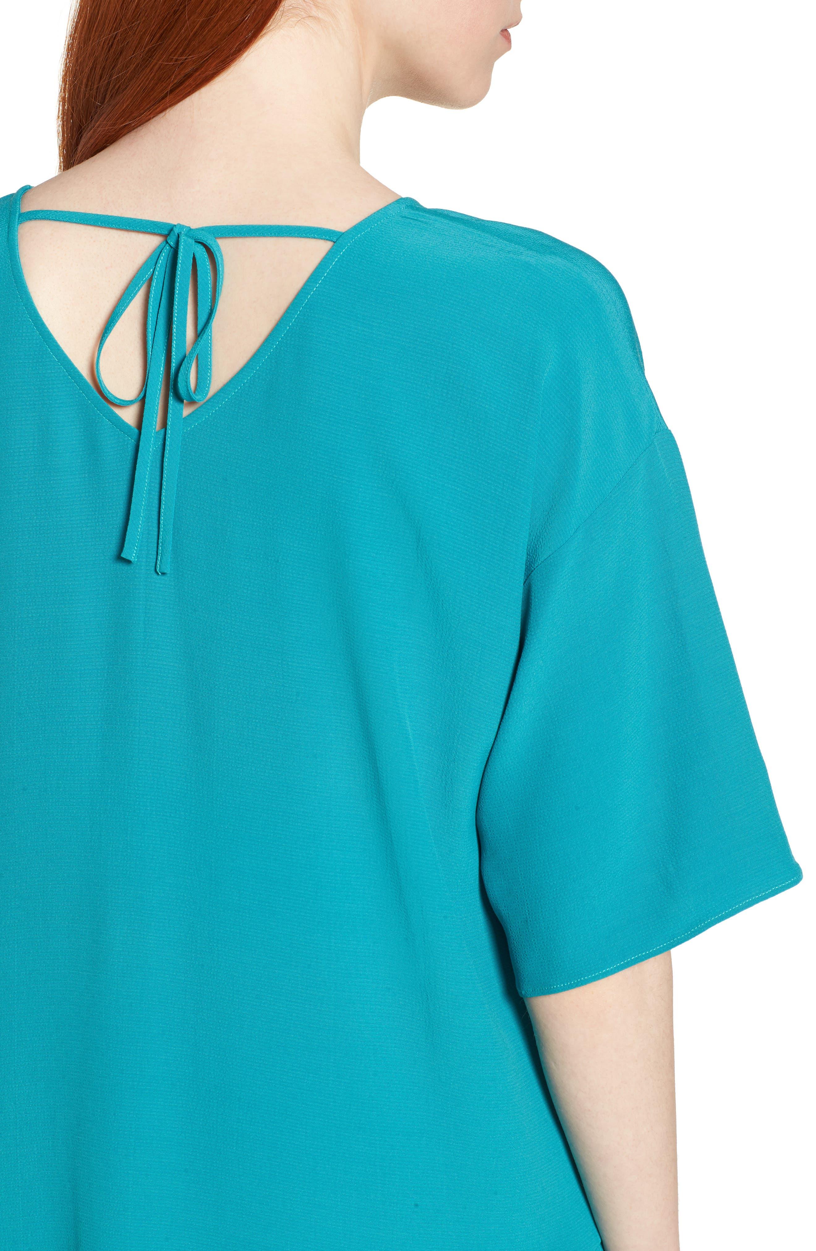 Drop Waist Tencel<sup>®</sup> Lyocell Blend Dress,                             Alternate thumbnail 16, color,