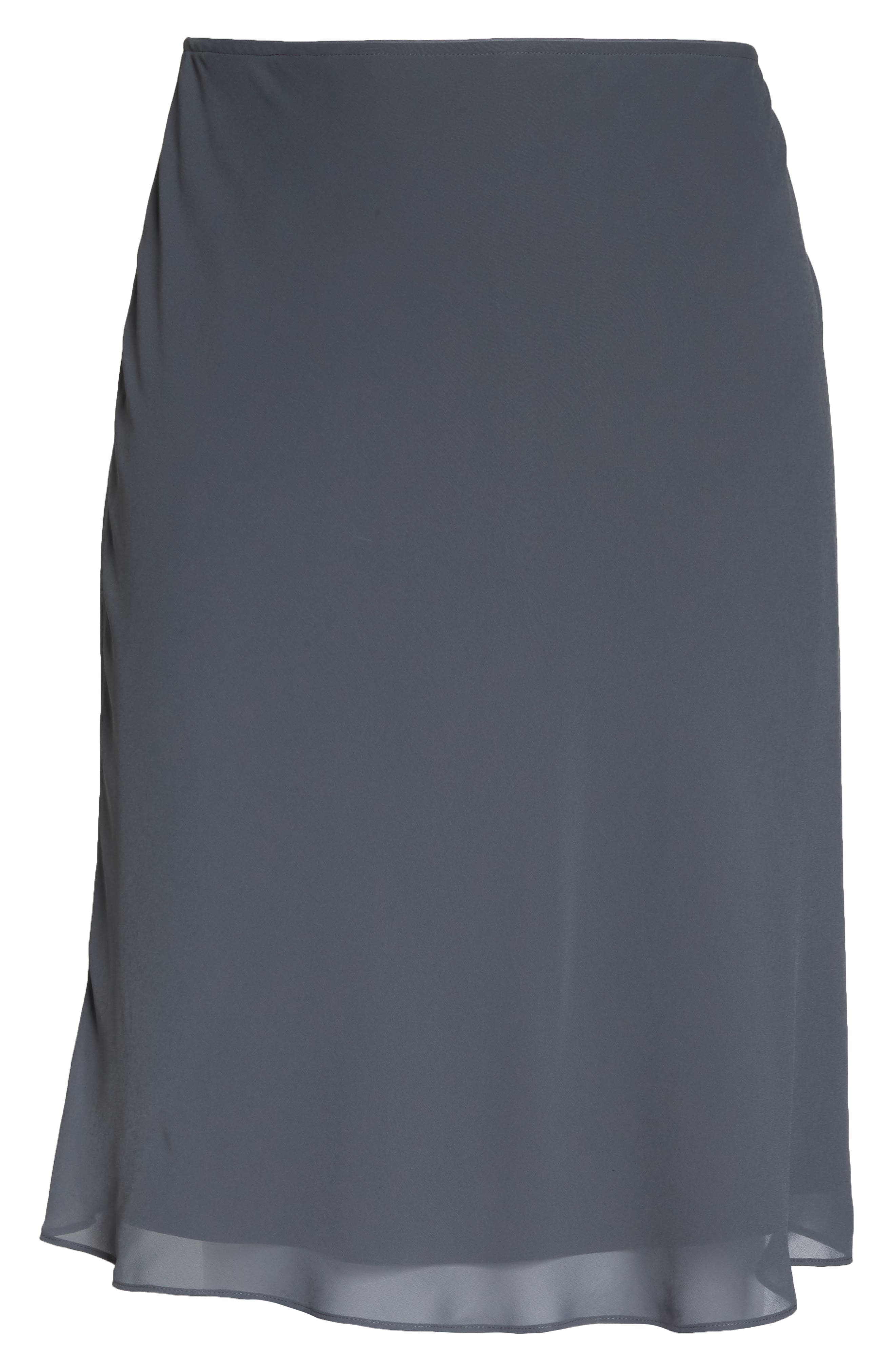 Paired Up Chiffon Skirt,                             Alternate thumbnail 6, color,                             INK