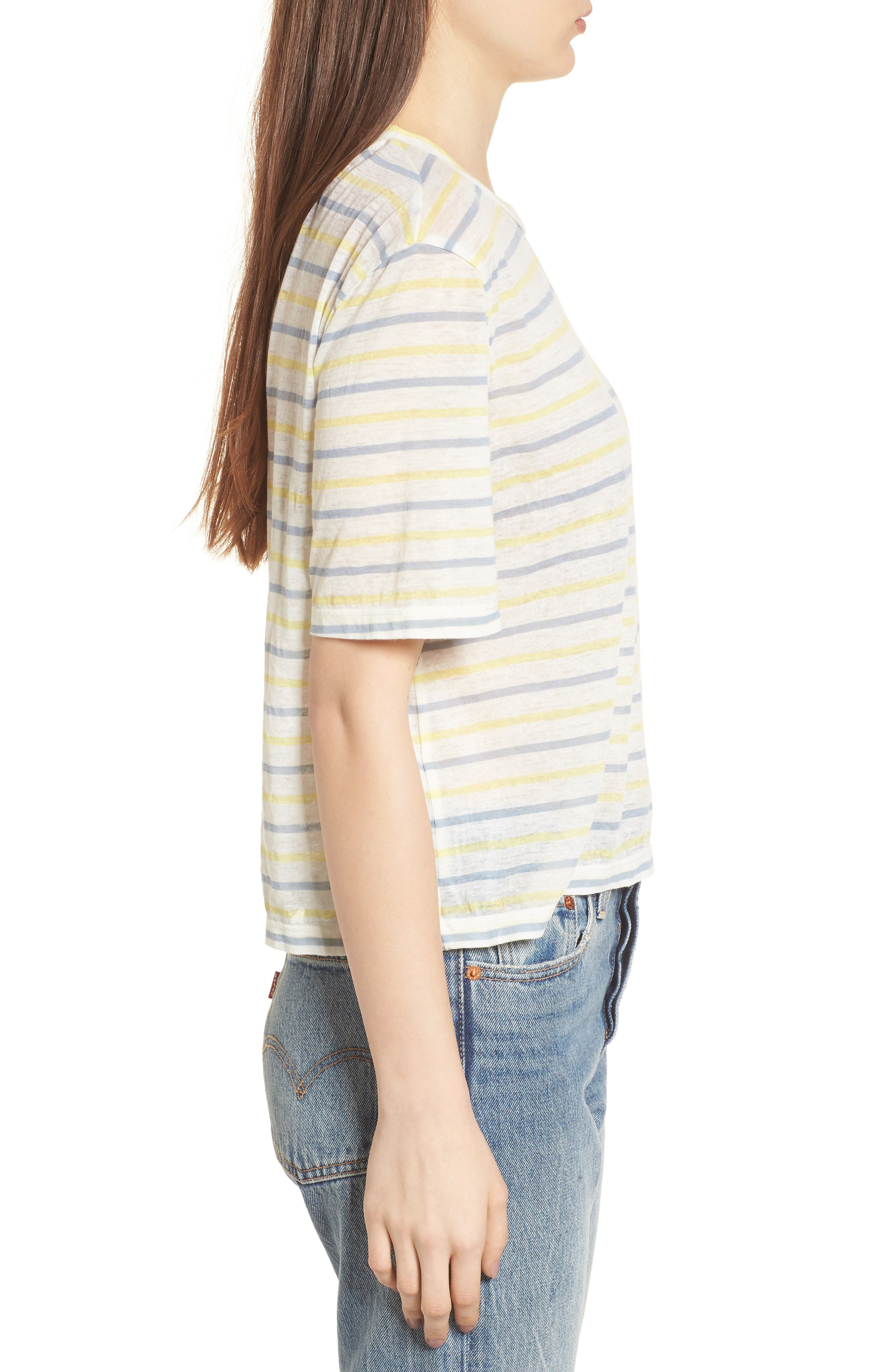 Stripe Baby Tee,                             Alternate thumbnail 3, color,                             450