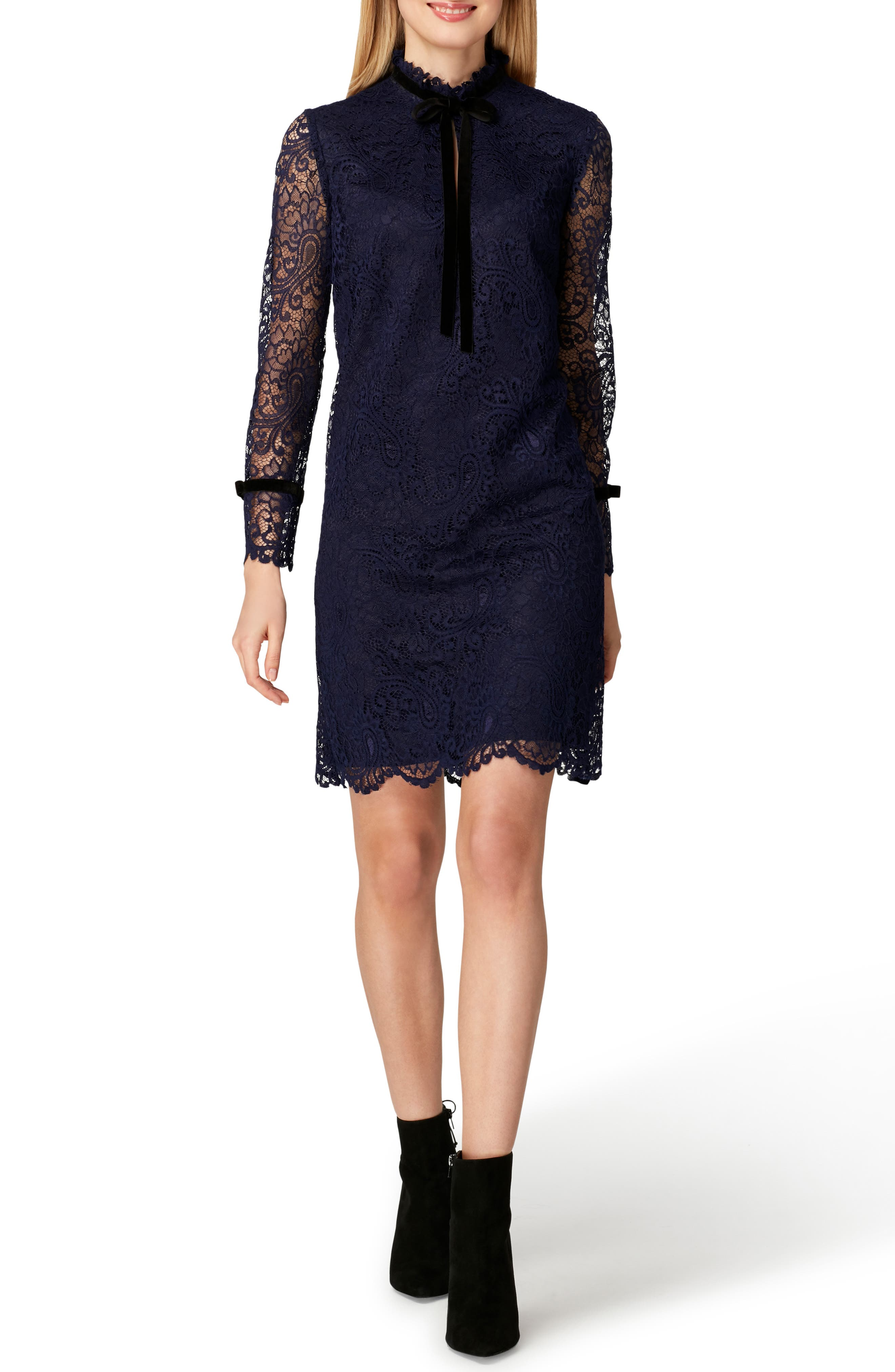 Lace Shift Dress,                             Main thumbnail 1, color,                             422