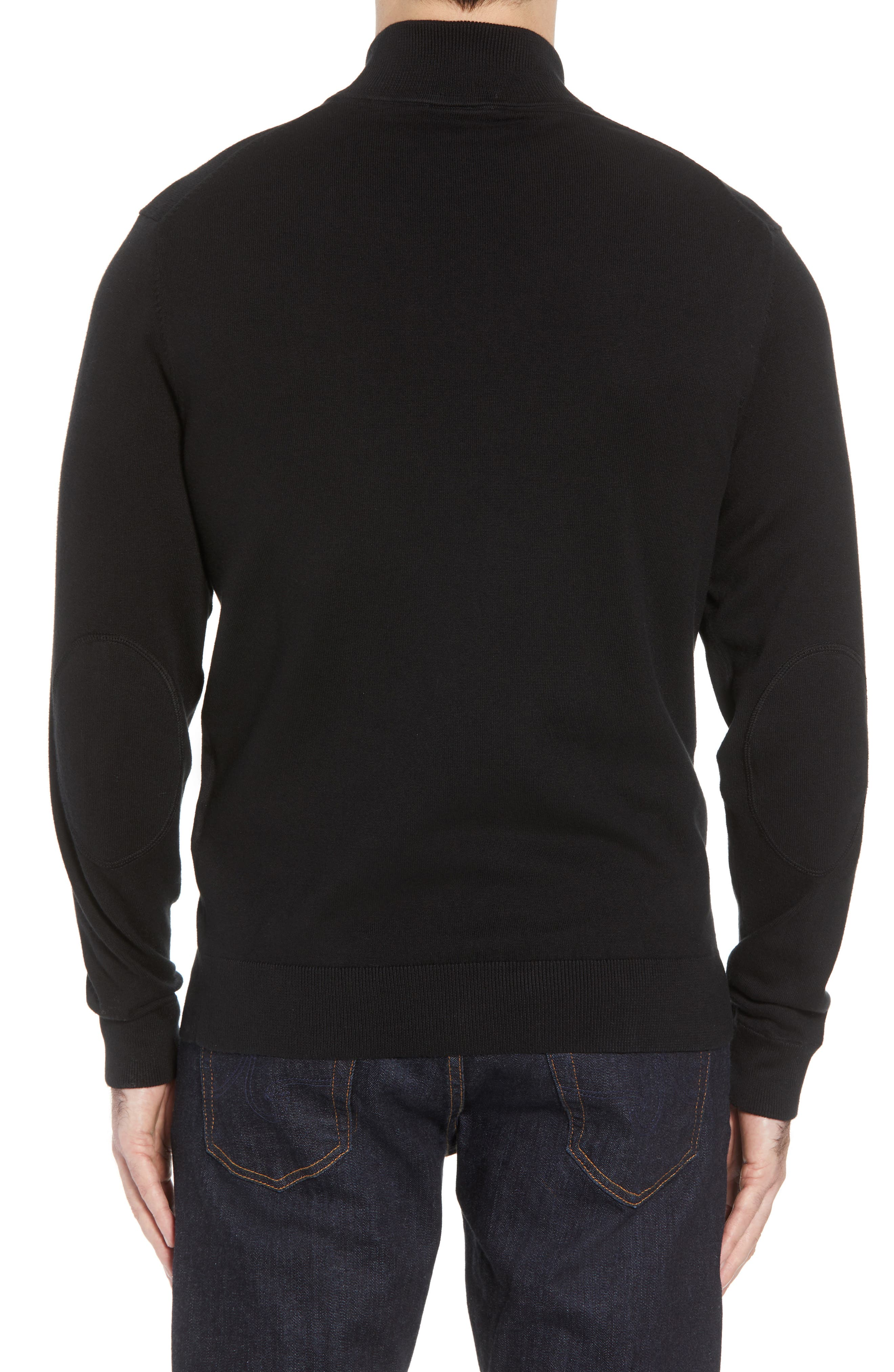 Washington - Lakemont Regular Fit Quarter Zip Sweater,                             Alternate thumbnail 2, color,                             BLACK