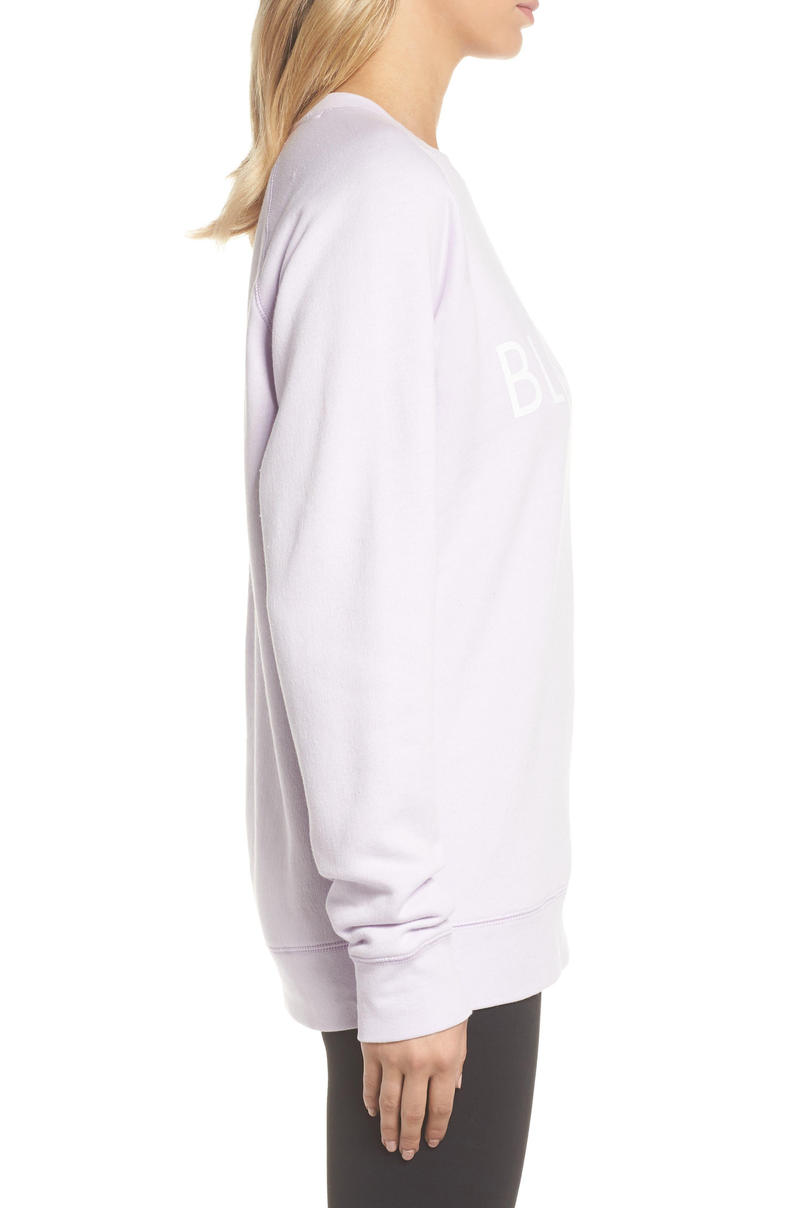 Blonde Sweatshirt,                             Alternate thumbnail 3, color,                             SOFT LAVENDER