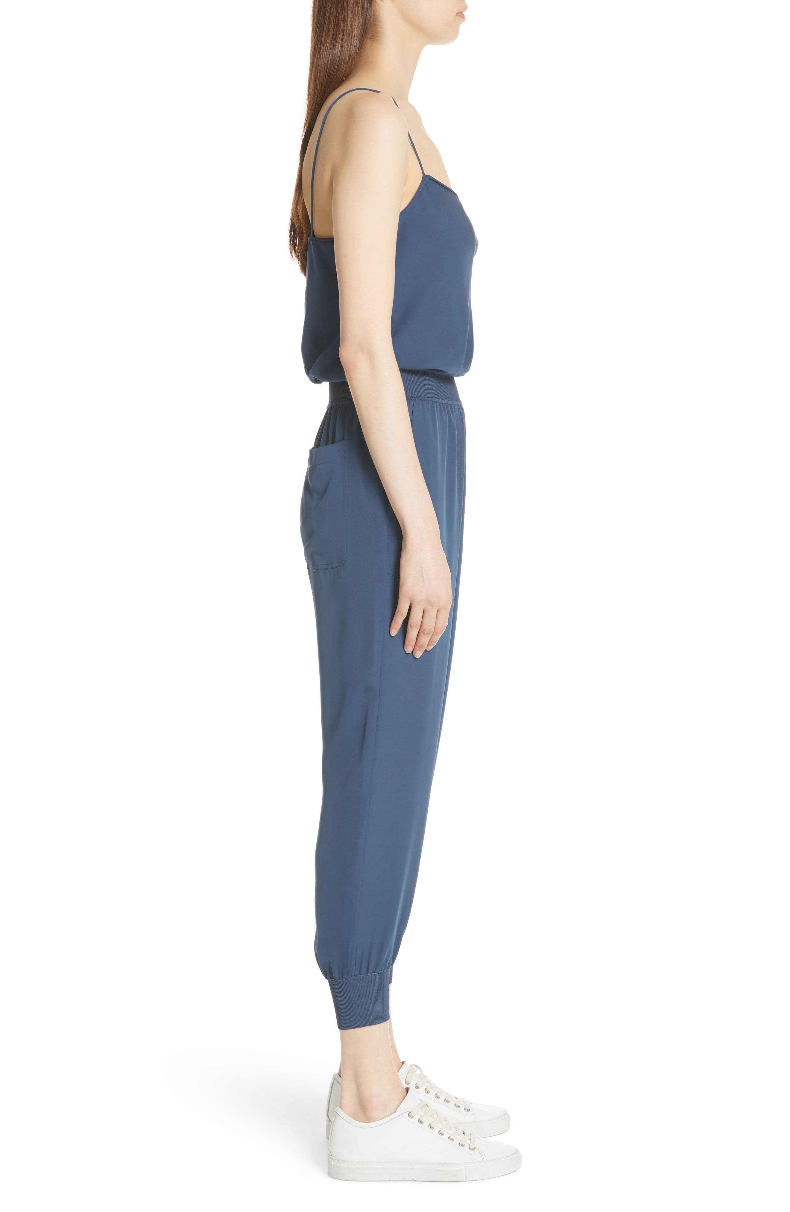 THEORY,                             Silk Romper,                             Alternate thumbnail 3, color,                             457