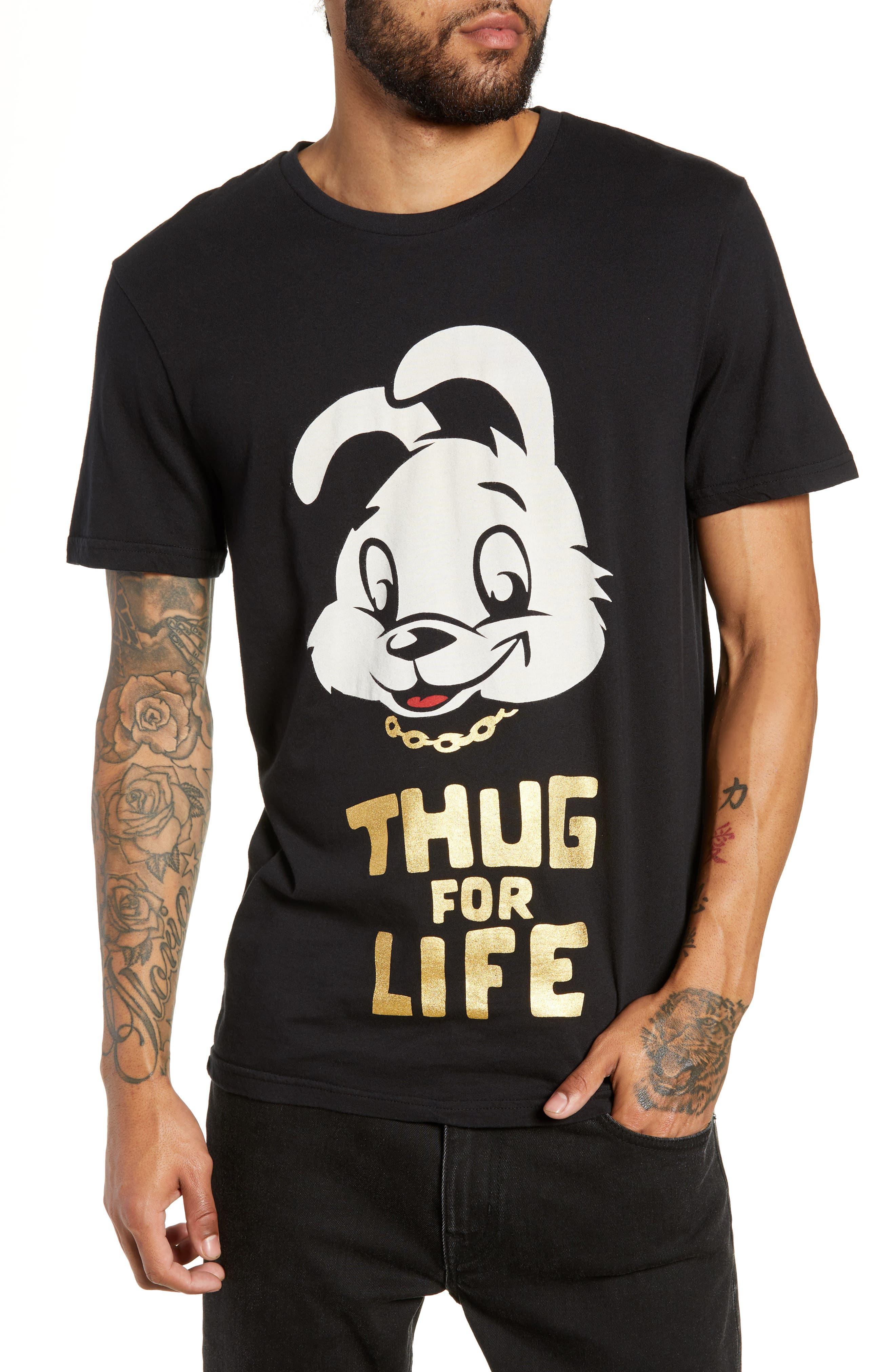 Thug for Life Graphic T-Shirt,                             Main thumbnail 1, color,                             BLACK