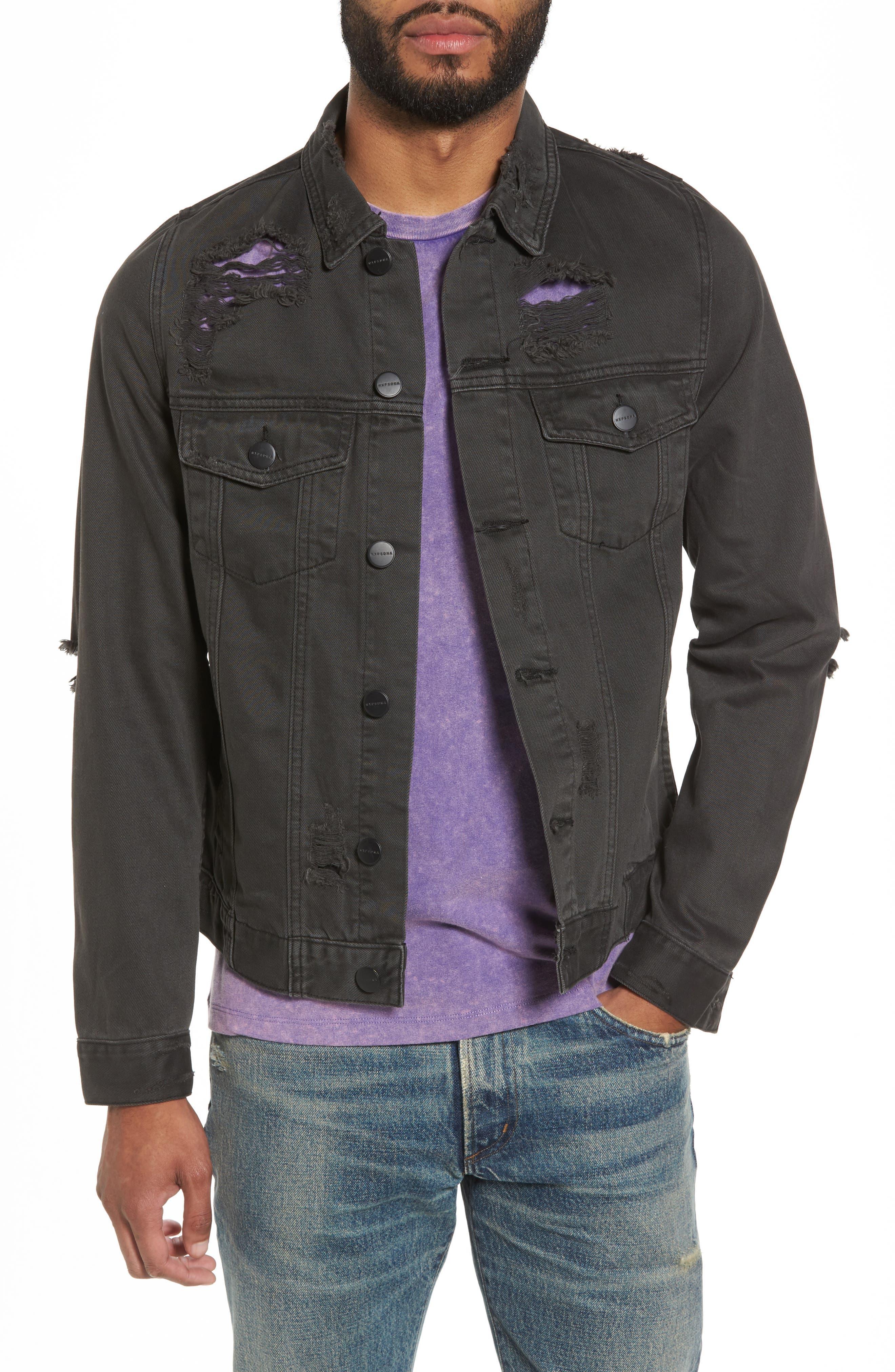 Norge Denim Jacket,                         Main,                         color, 019
