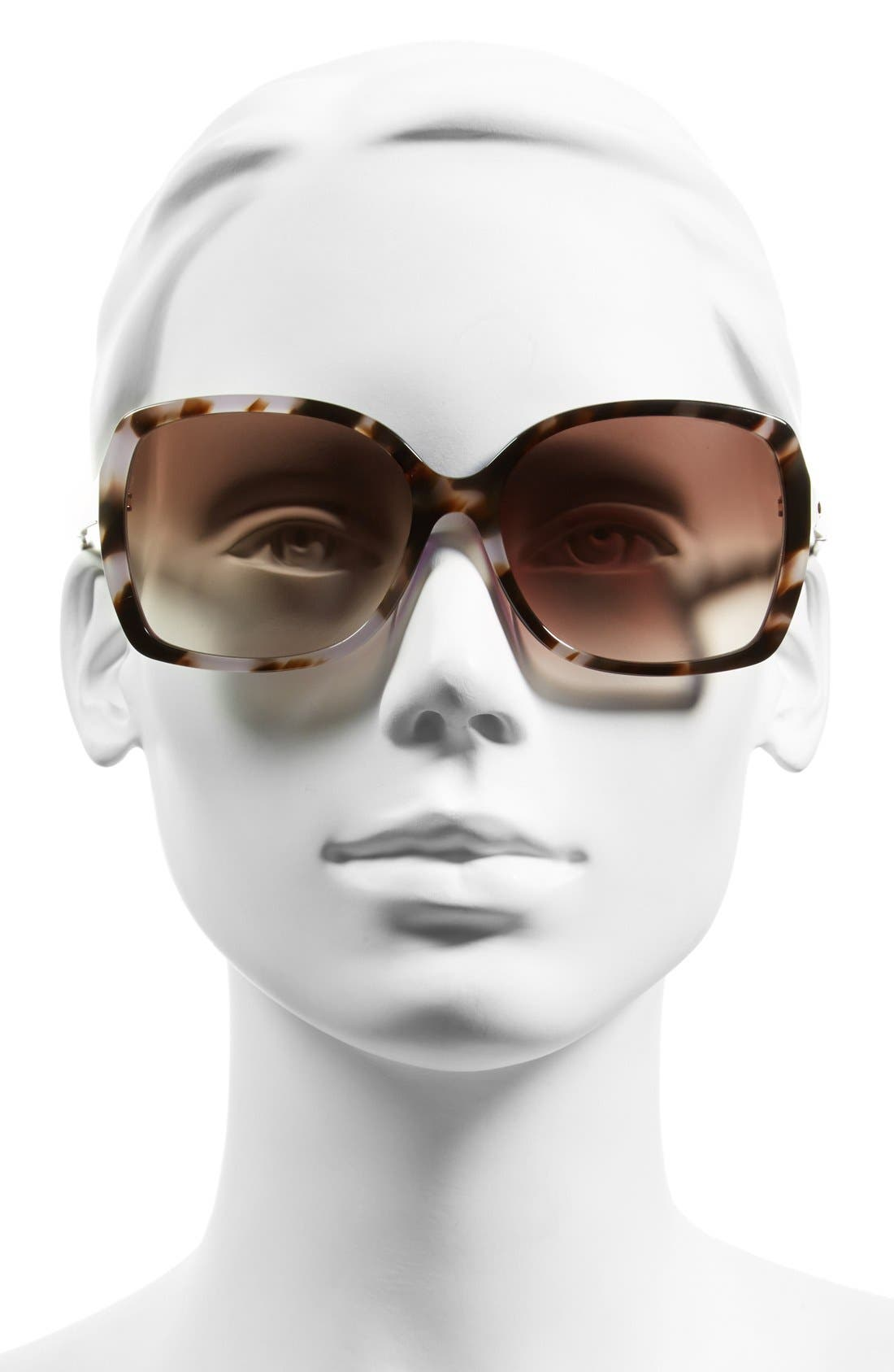 'darrilyn' 58mm butterfly sunglasses,                             Alternate thumbnail 2, color,                             TORTOISE/ LAVENDER