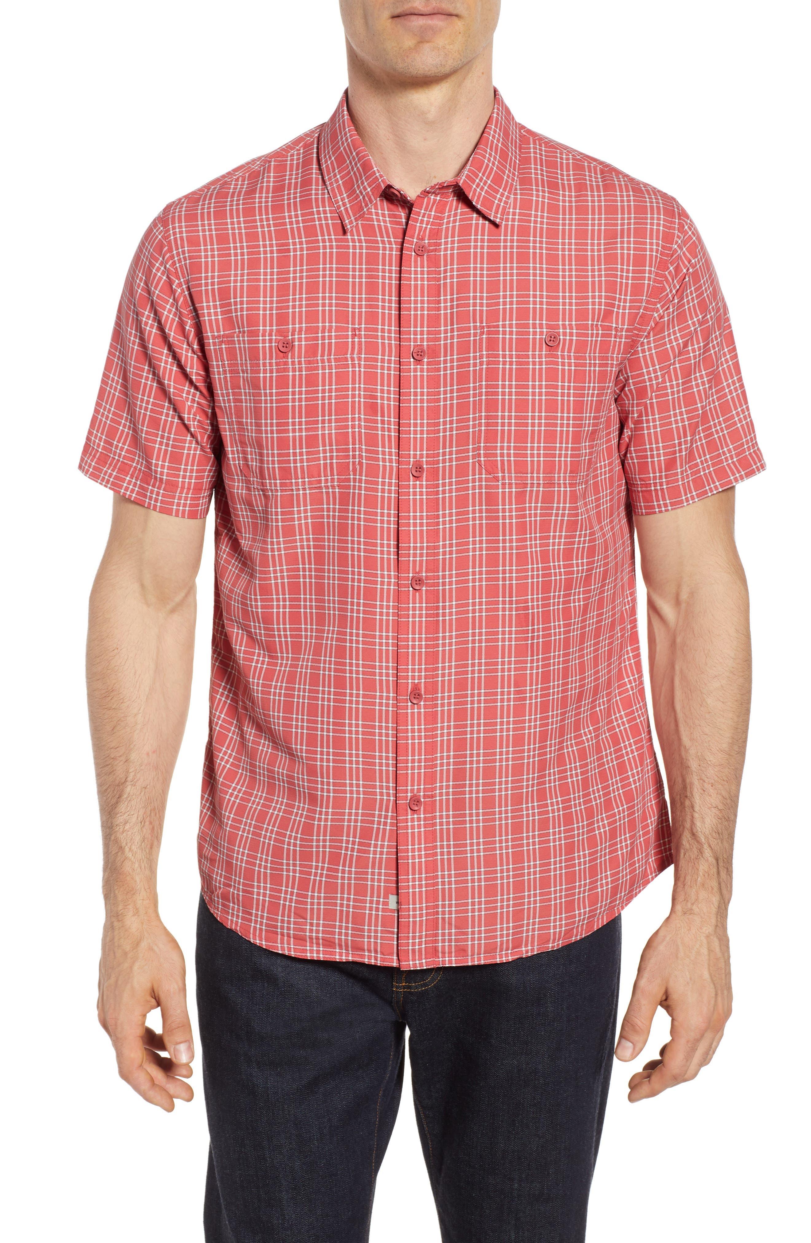 Wake Plaid Regular Fit Performance Sport Shirt,                         Main,                         color, 600