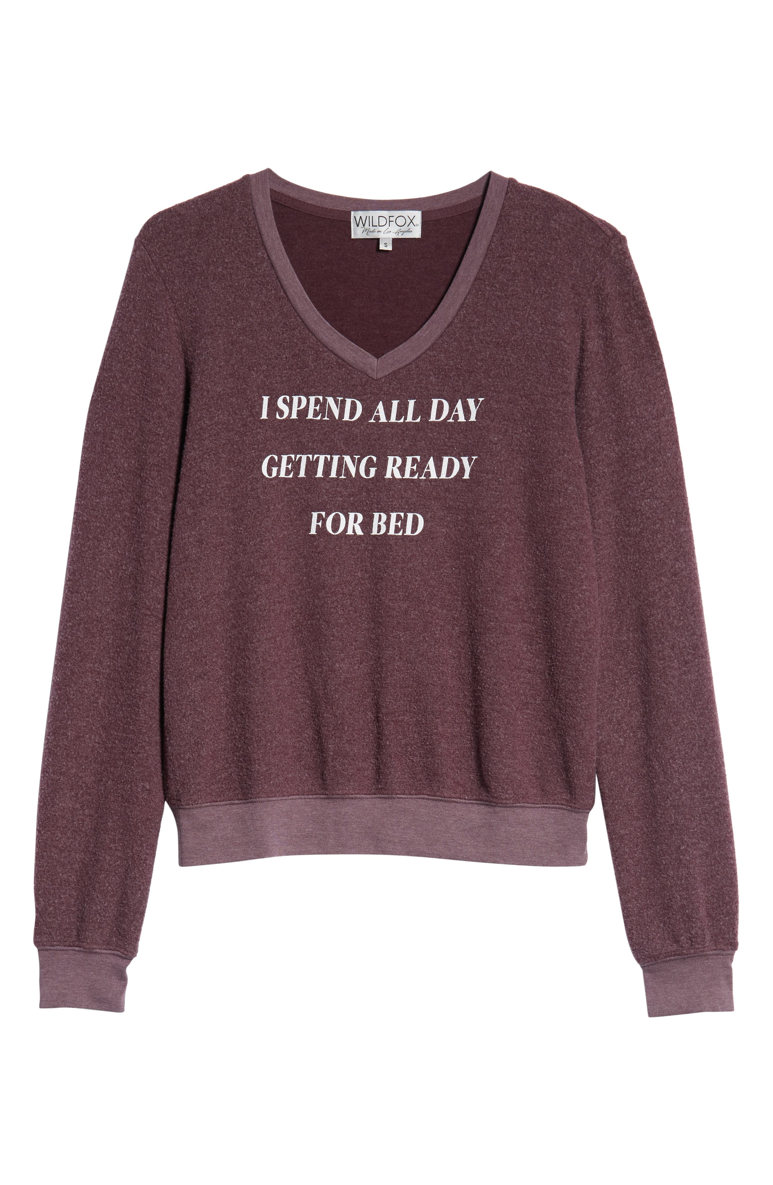 Ready For Bed Baggy Beach Jumper Sweatshirt,                             Alternate thumbnail 6, color,                             CRUSHED BERRY
