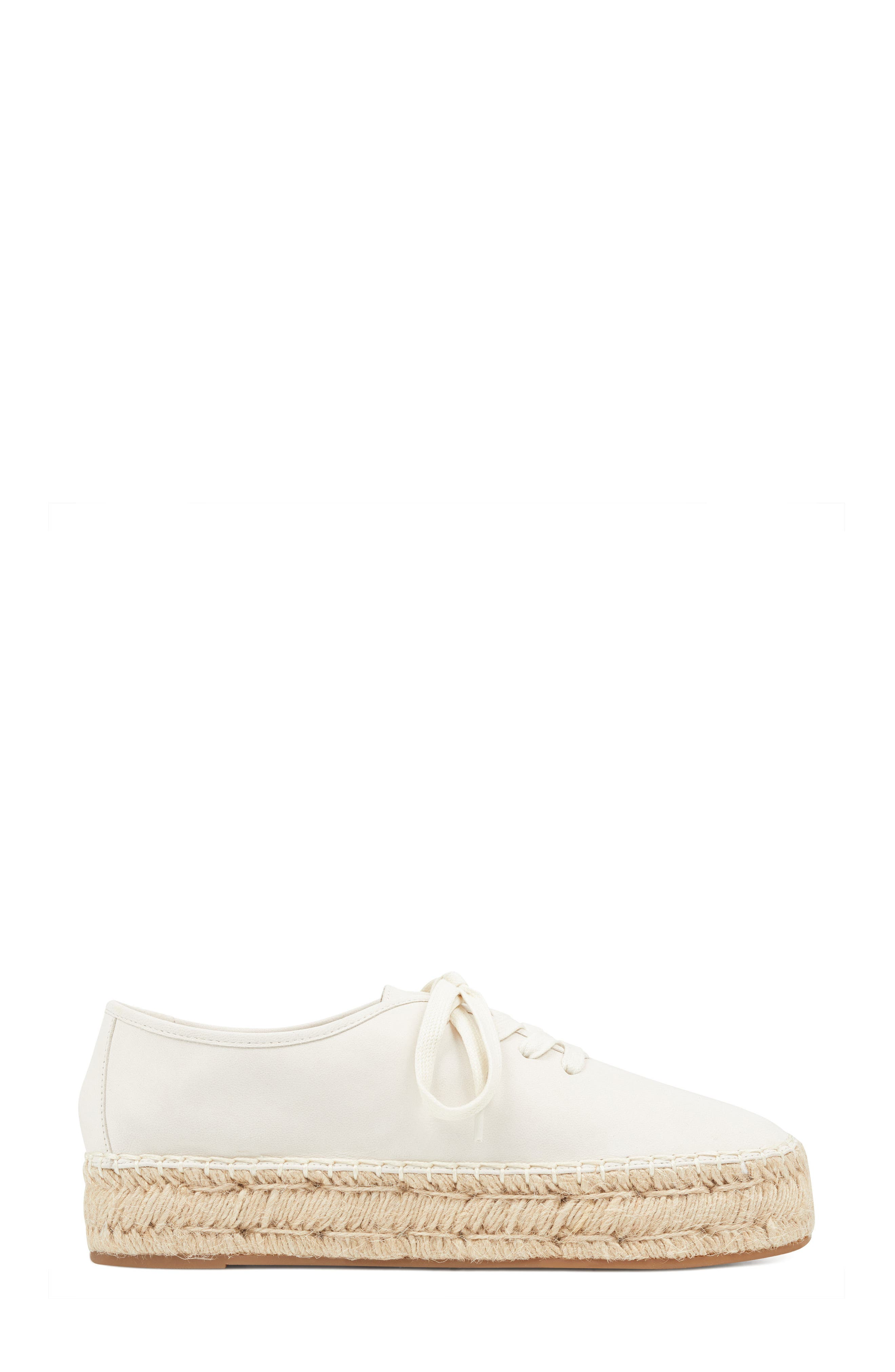 Gingerbread Espadrille Sneaker,                             Alternate thumbnail 3, color,                             OFF WHITE LEATHER