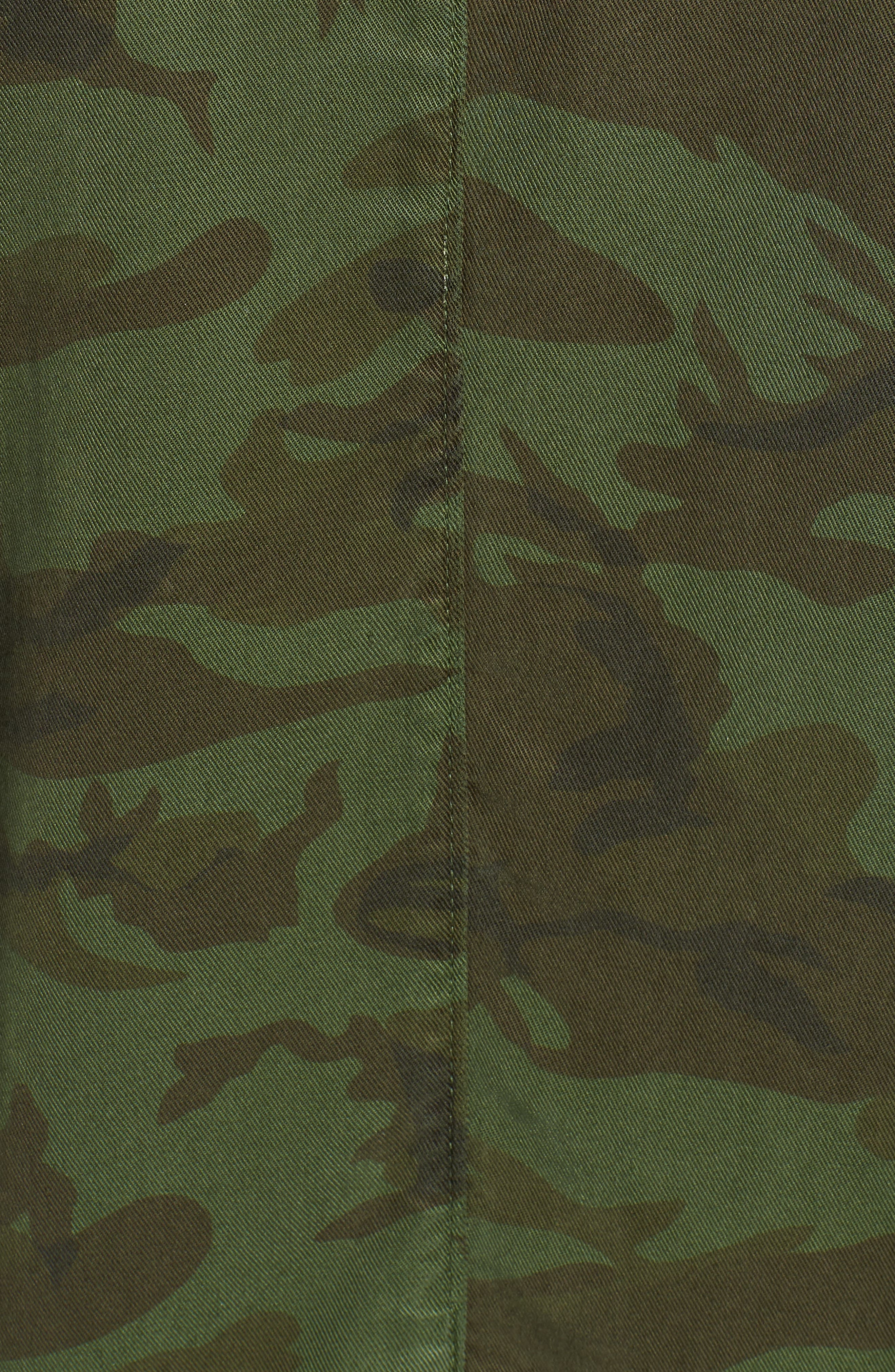 Contrast Cuff Camo Jacket,                             Alternate thumbnail 7, color,                             ARMY CAMO