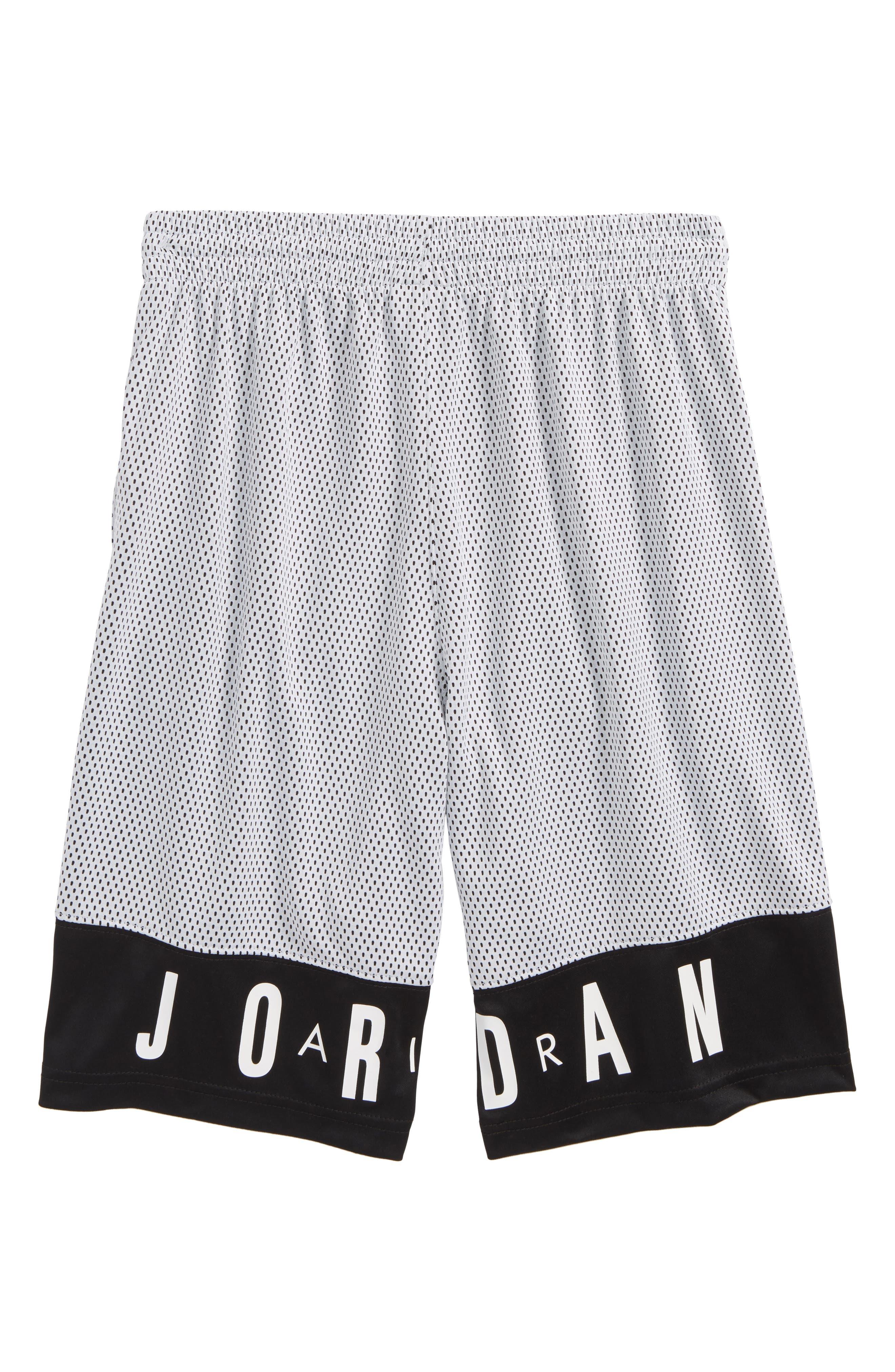 Jordan AJ 90s D2 Mesh Shorts,                             Alternate thumbnail 2, color,                             001