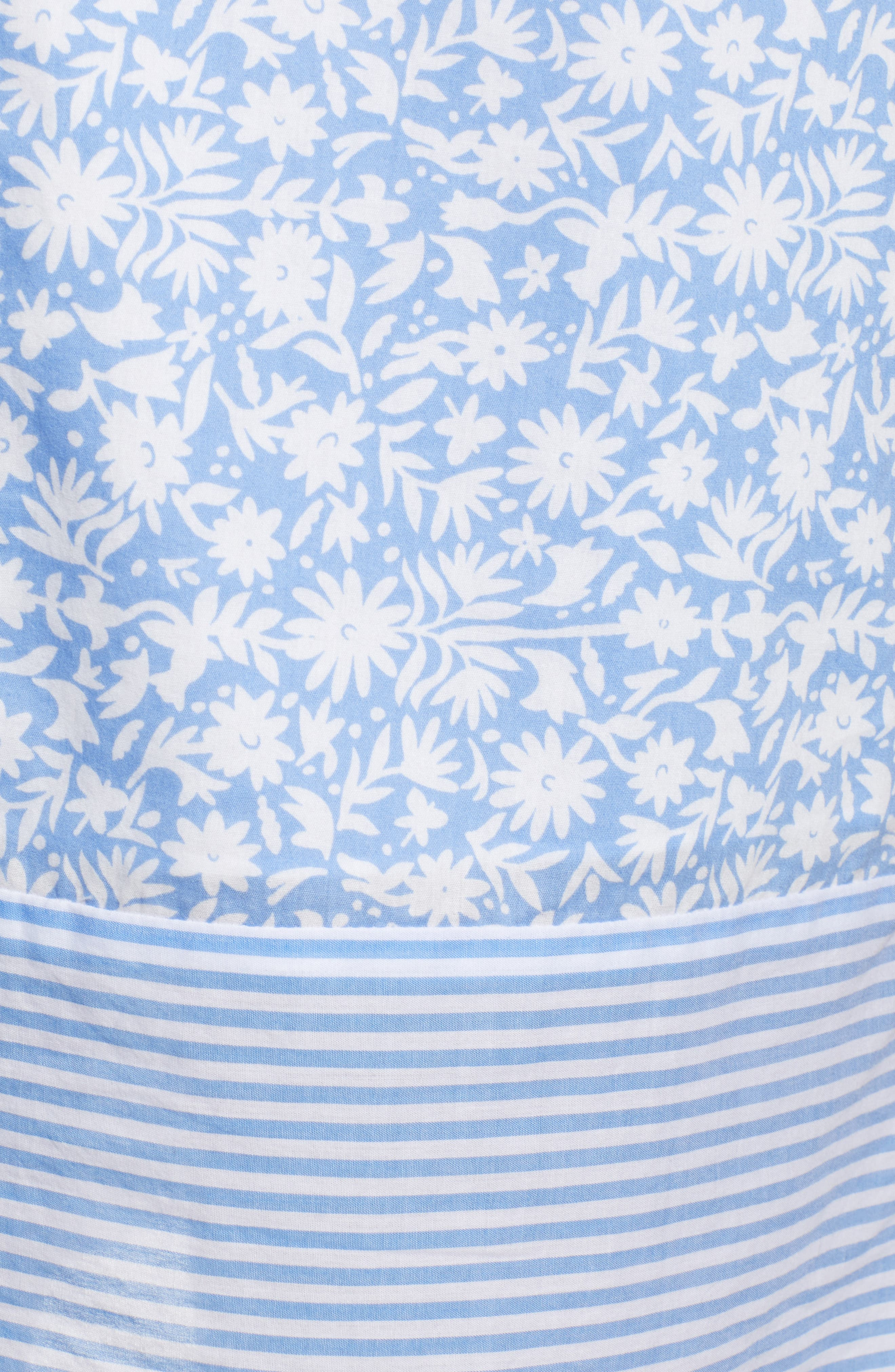 Somerset Tunic Dress,                             Alternate thumbnail 6, color,                             HYDRANGEA