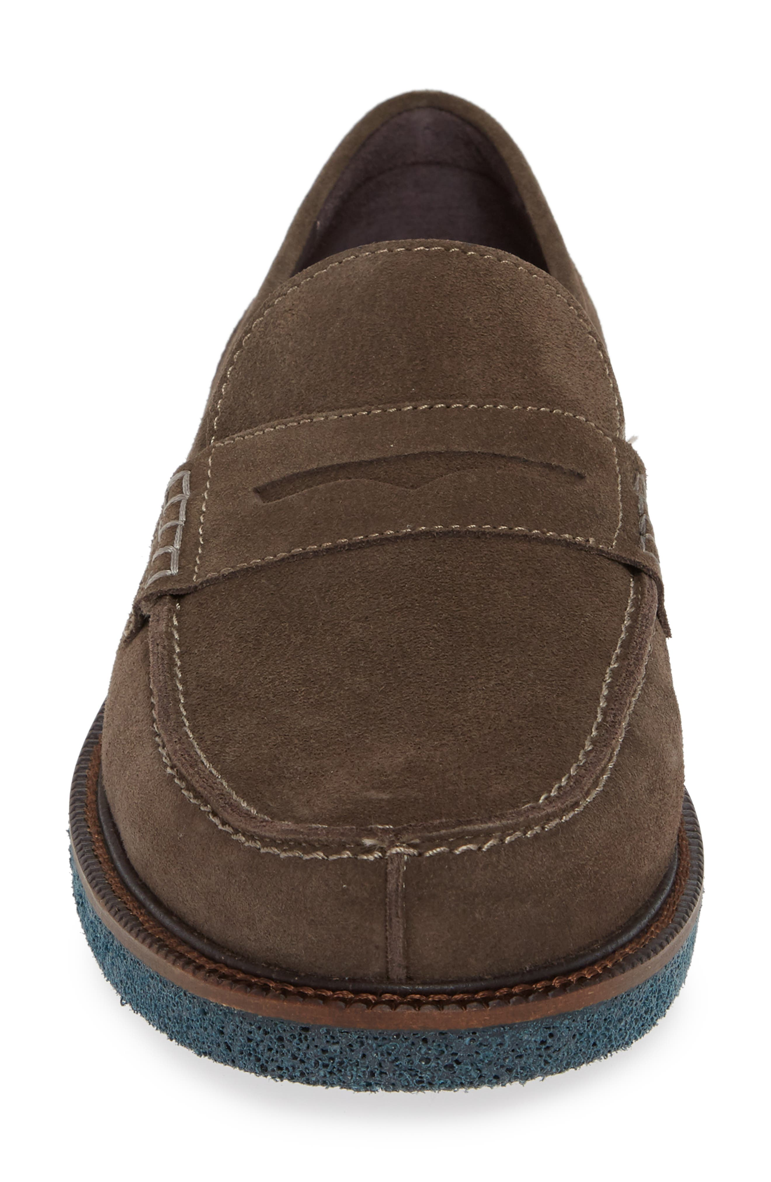 Landry Penny Loafer,                             Alternate thumbnail 4, color,                             GREY SUEDE