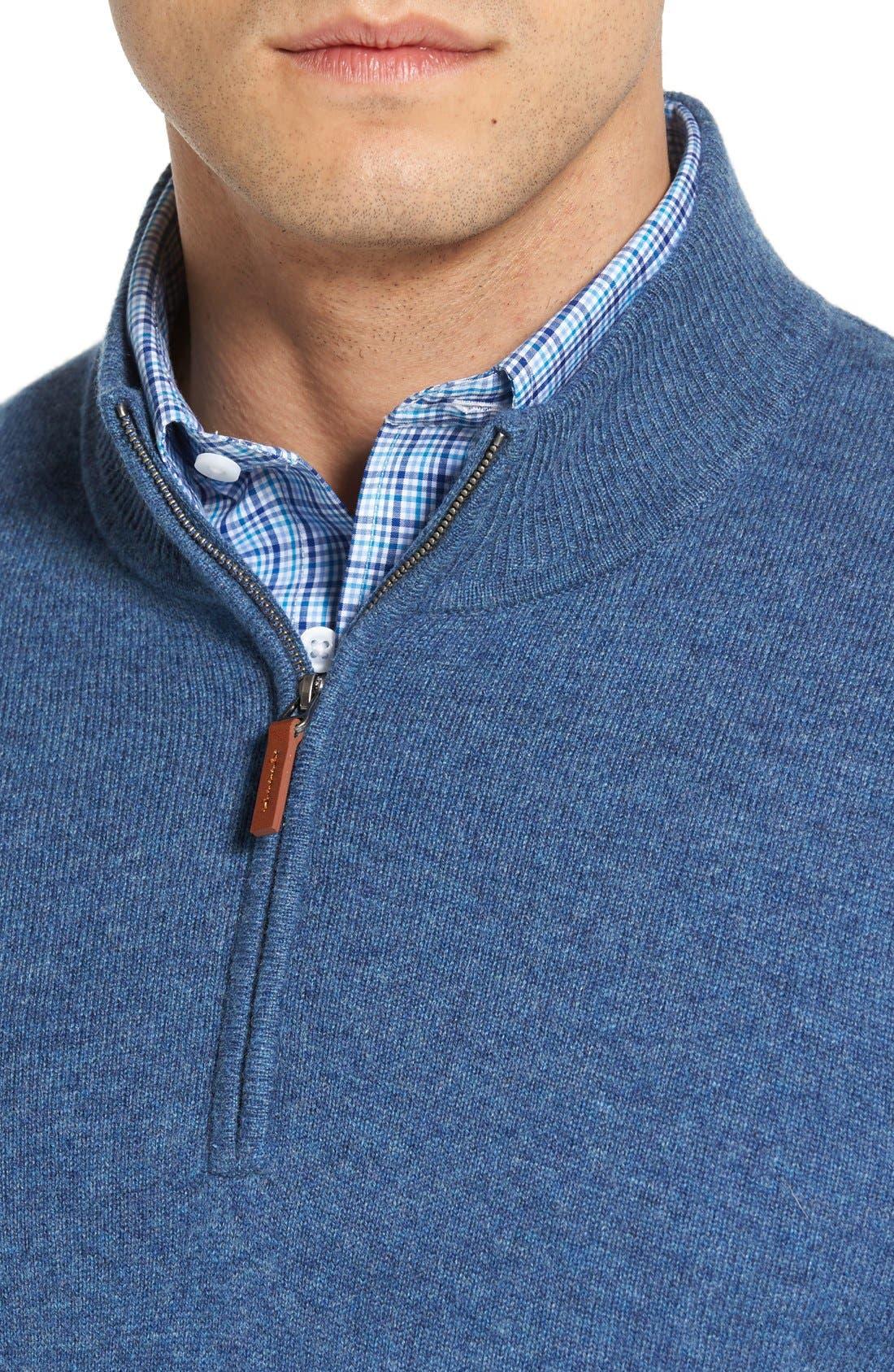 Cashmere Quarter Zip Sweater,                             Alternate thumbnail 49, color,