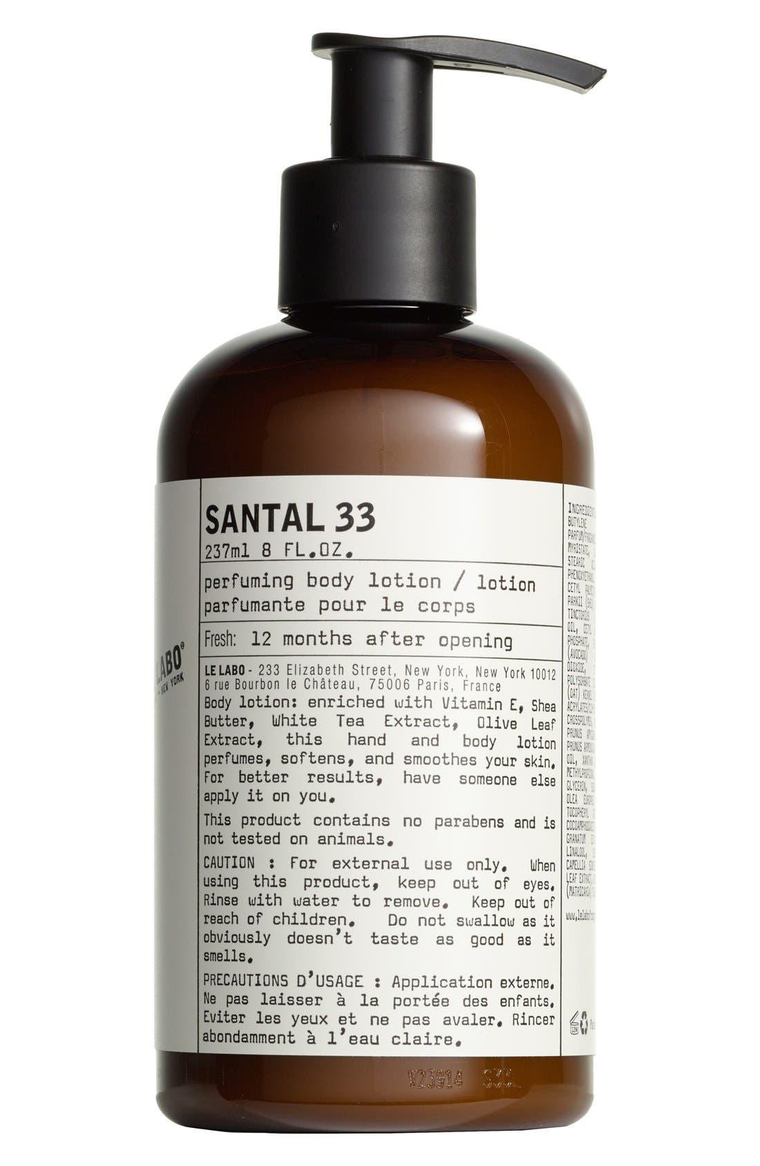 'Santal 33' Hand & Body Lotion,                             Main thumbnail 1, color,                             NO COLOR