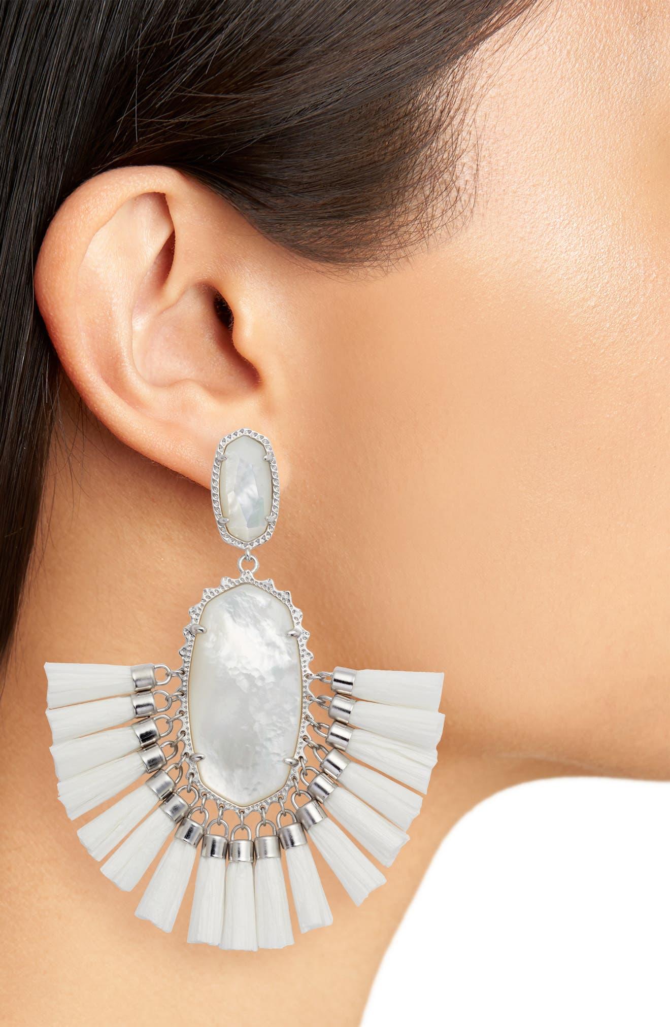 Cristina Stone Tassel Earrings,                             Alternate thumbnail 2, color,                             100