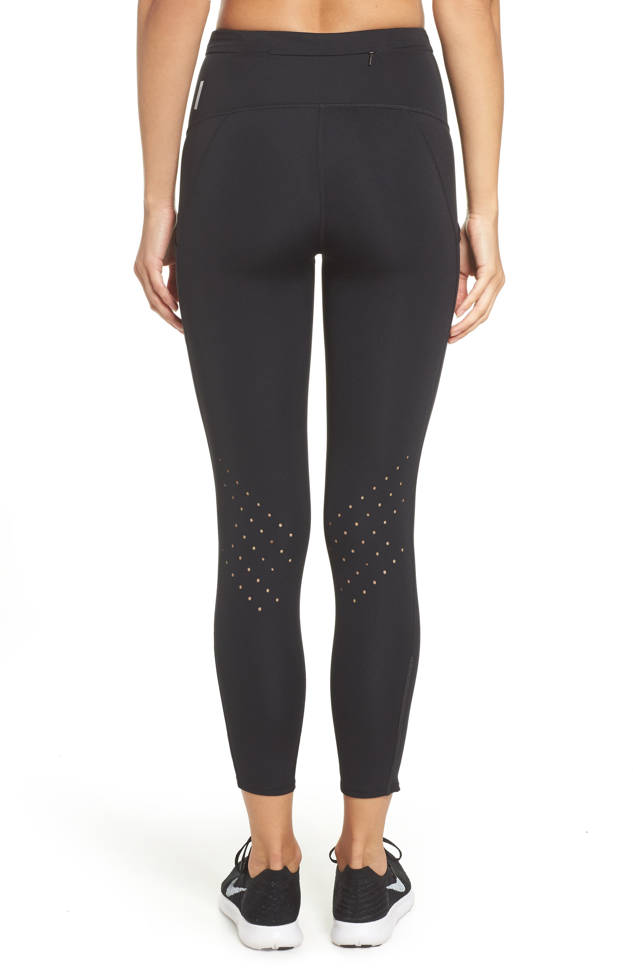 Sprint In High Waist Midi Leggings,                             Alternate thumbnail 2, color,                             001