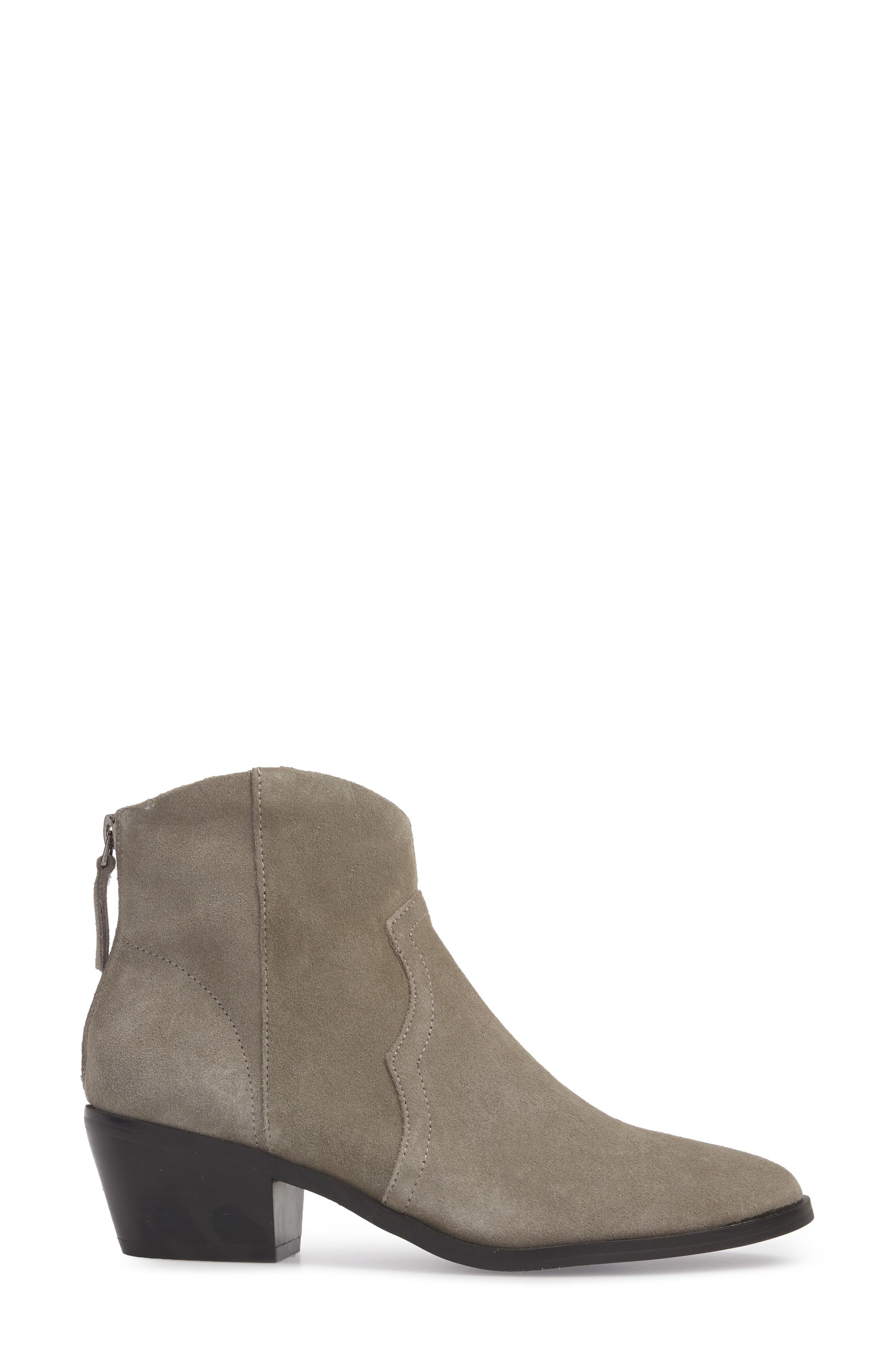 Betty Western Bootie,                             Alternate thumbnail 3, color,                             GREY