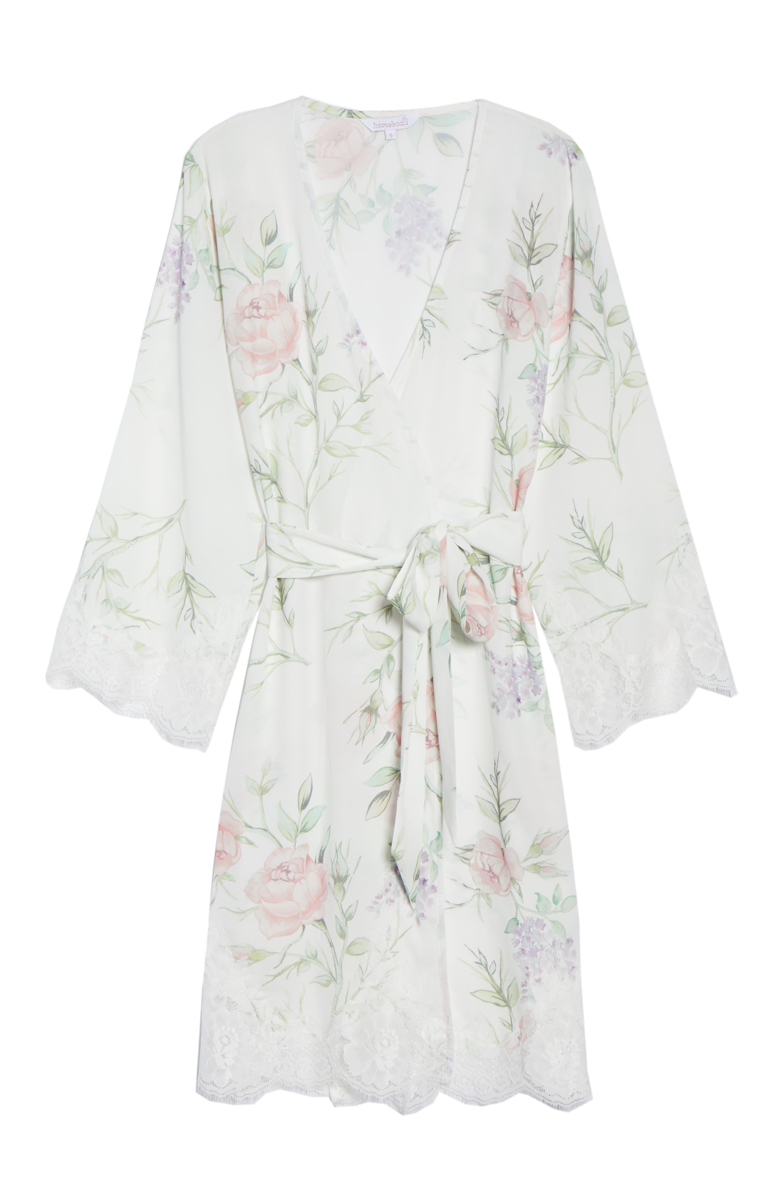 Sofia Kimono Robe,                             Alternate thumbnail 6, color,                             PURPLE FLORAL