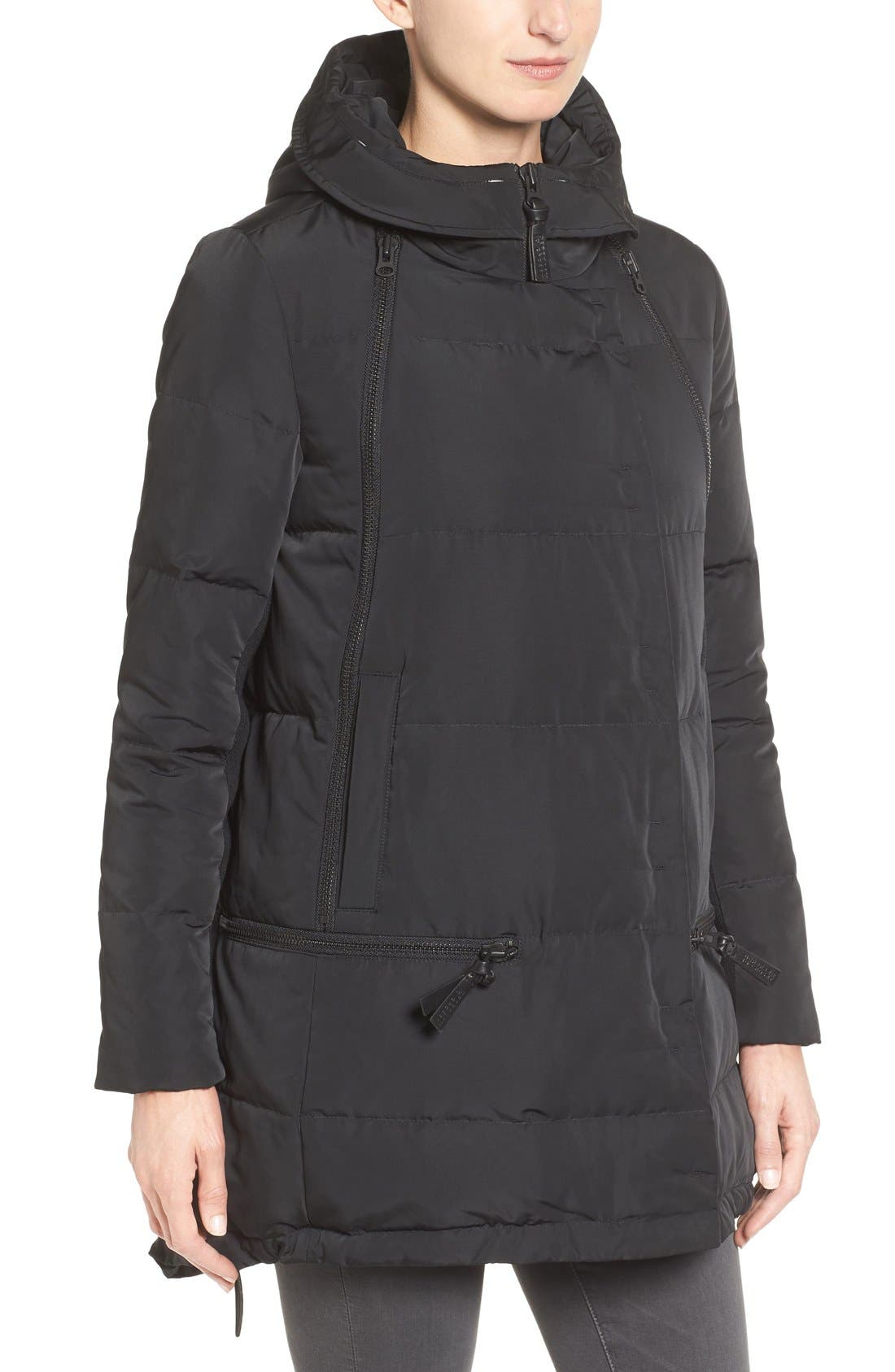 Relaxed Water Resistant Down Parka with Genuine Fox Fur Trim,                             Alternate thumbnail 6, color,