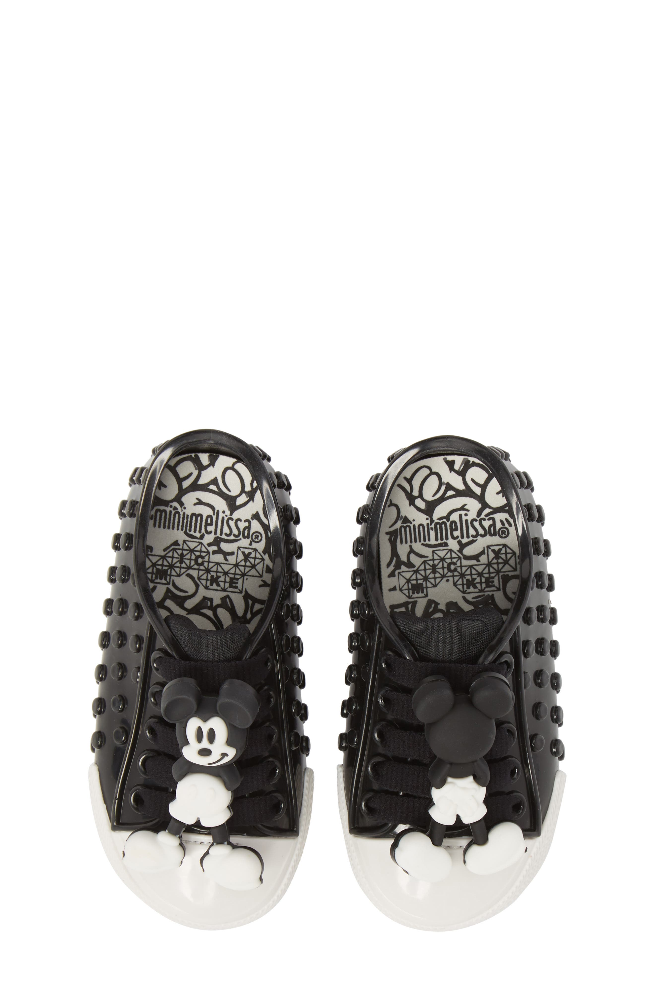 MINI MELISSA Polibolha Disney's Mickey Mouse<sup>®</sup> Sneaker, Main, color, 001
