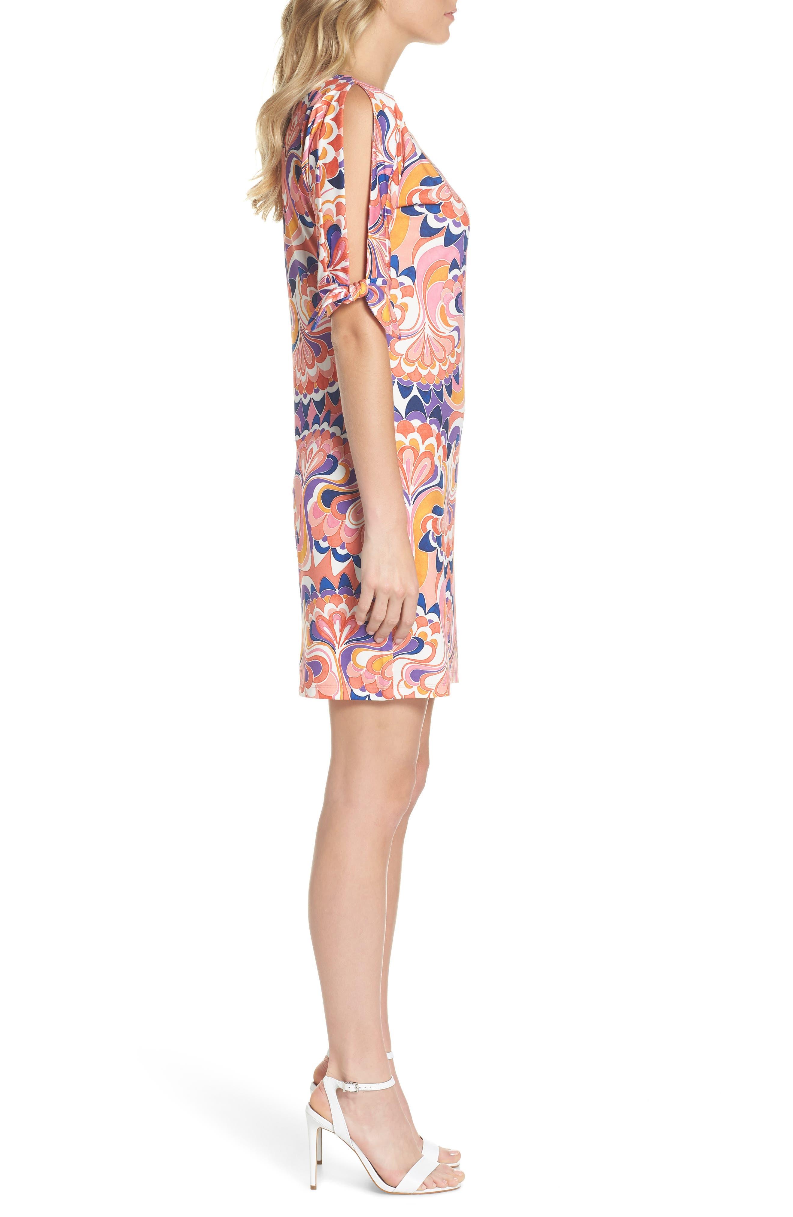 Vinet Floral Jersey Dress,                             Alternate thumbnail 6, color,