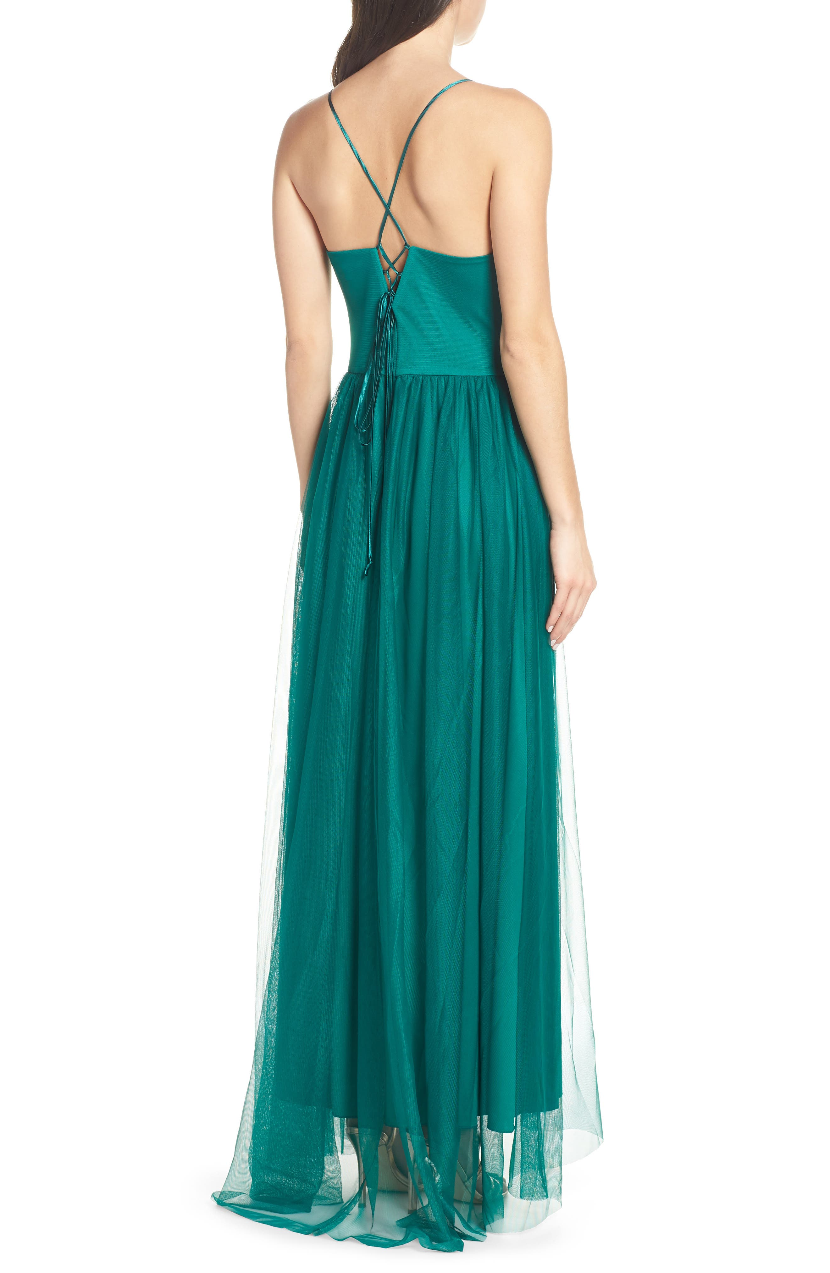 Embellished Bodice Gown,                             Alternate thumbnail 2, color,                             EVERGREEN