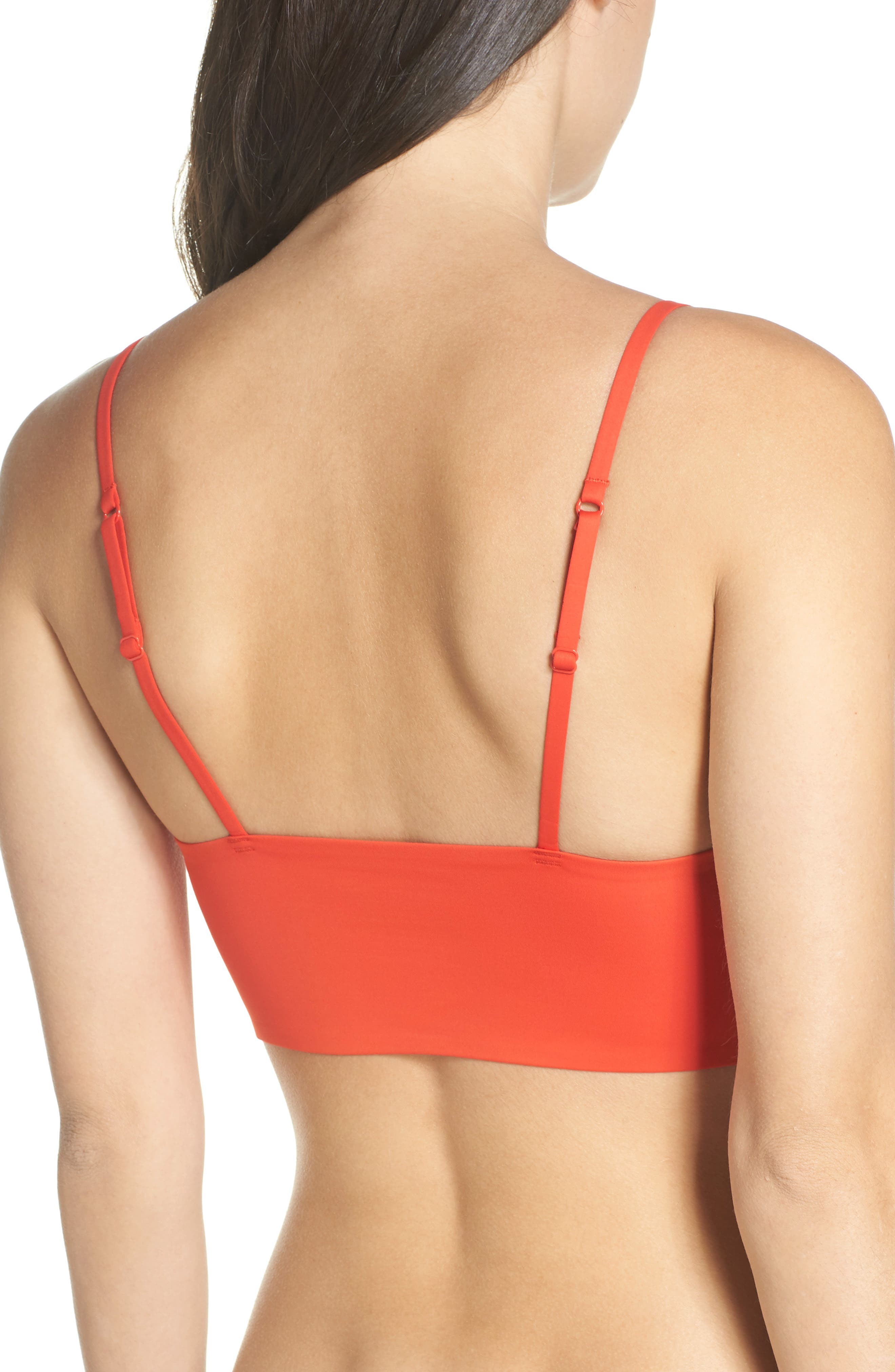 Intimately FP Sage Longline Bralette,                             Alternate thumbnail 2, color,                             RED