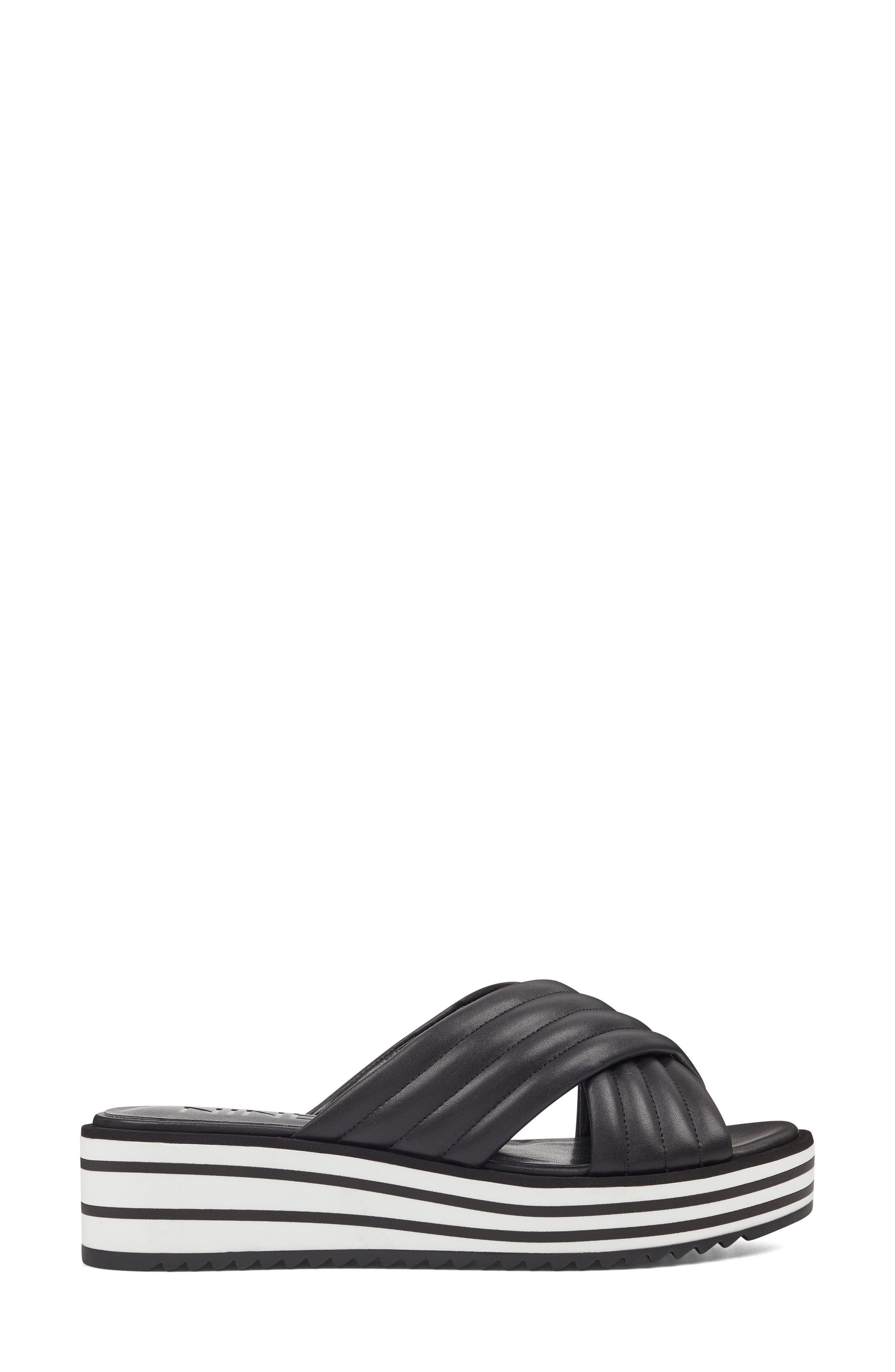 Zonita Platform Slide Sandal,                             Alternate thumbnail 3, color,                             001